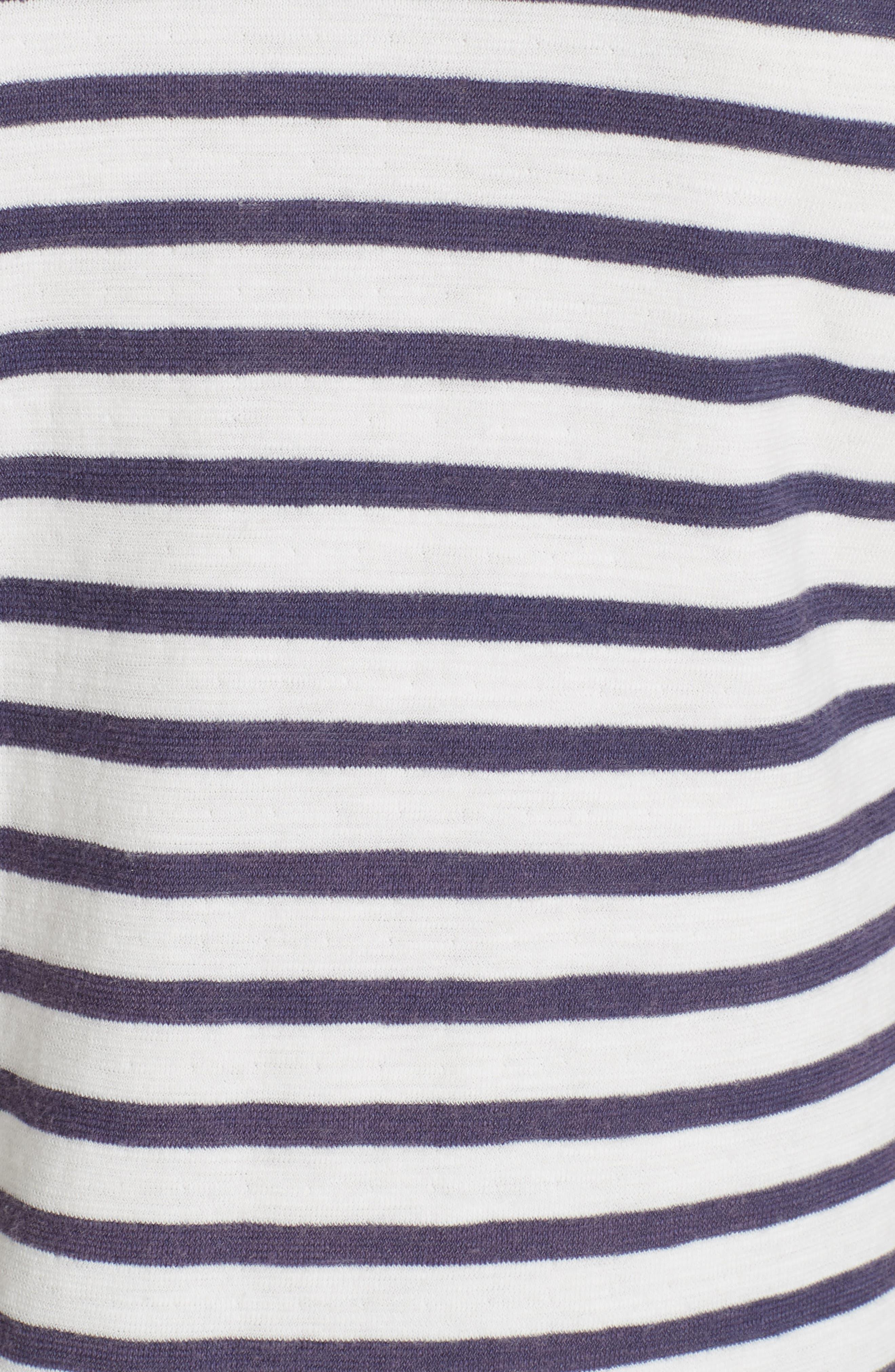 Stripe Top,                             Alternate thumbnail 5, color,                             DECK WASH WHITE/ FLAG BLUE