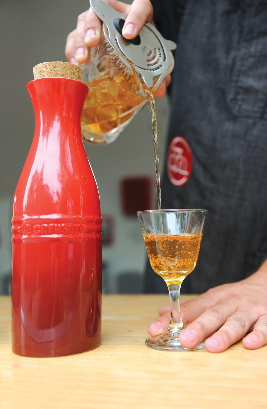 Glazed Stoneware Wine Carafe with Cork,                             Alternate thumbnail 4, color,                             100