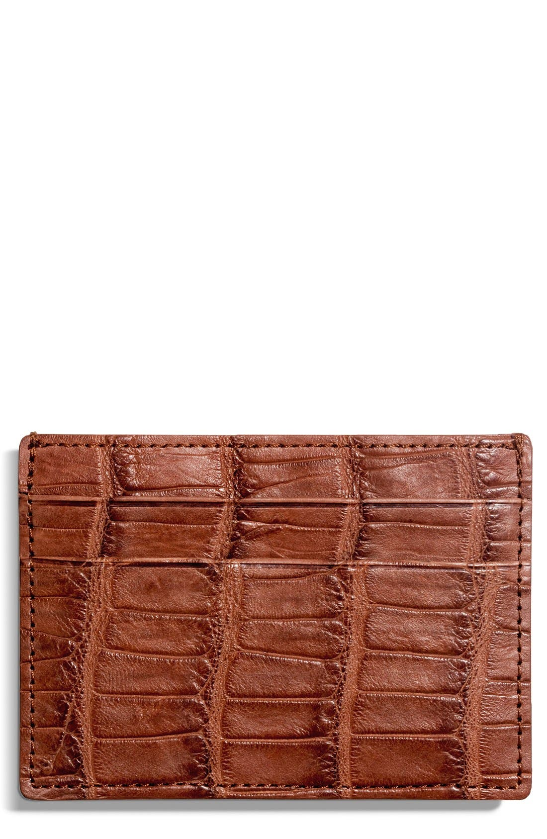 Alligator Leather Card Case,                             Alternate thumbnail 5, color,