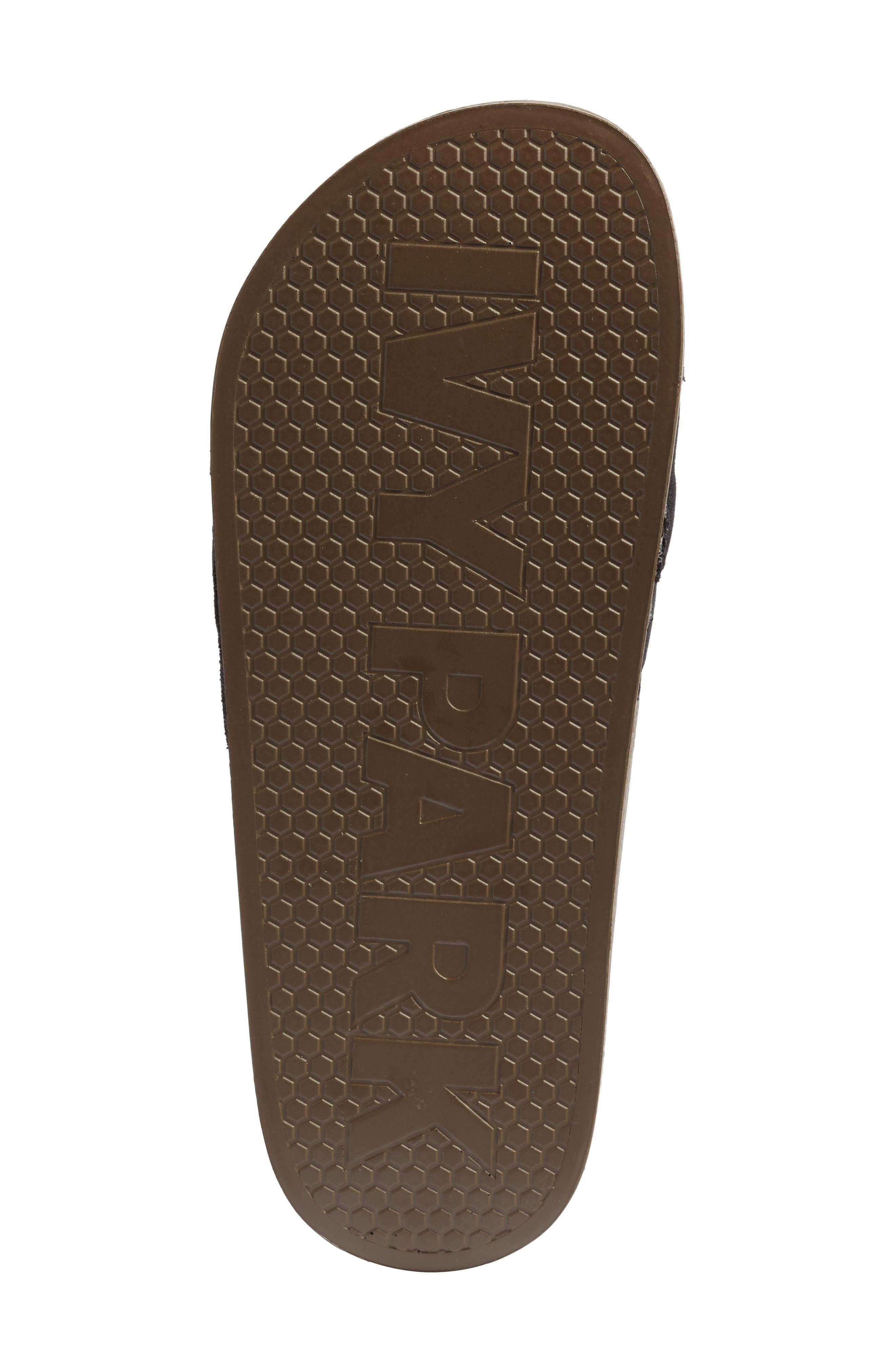Logo Tape Slide Sandal,                             Alternate thumbnail 6, color,                             CROCODILE