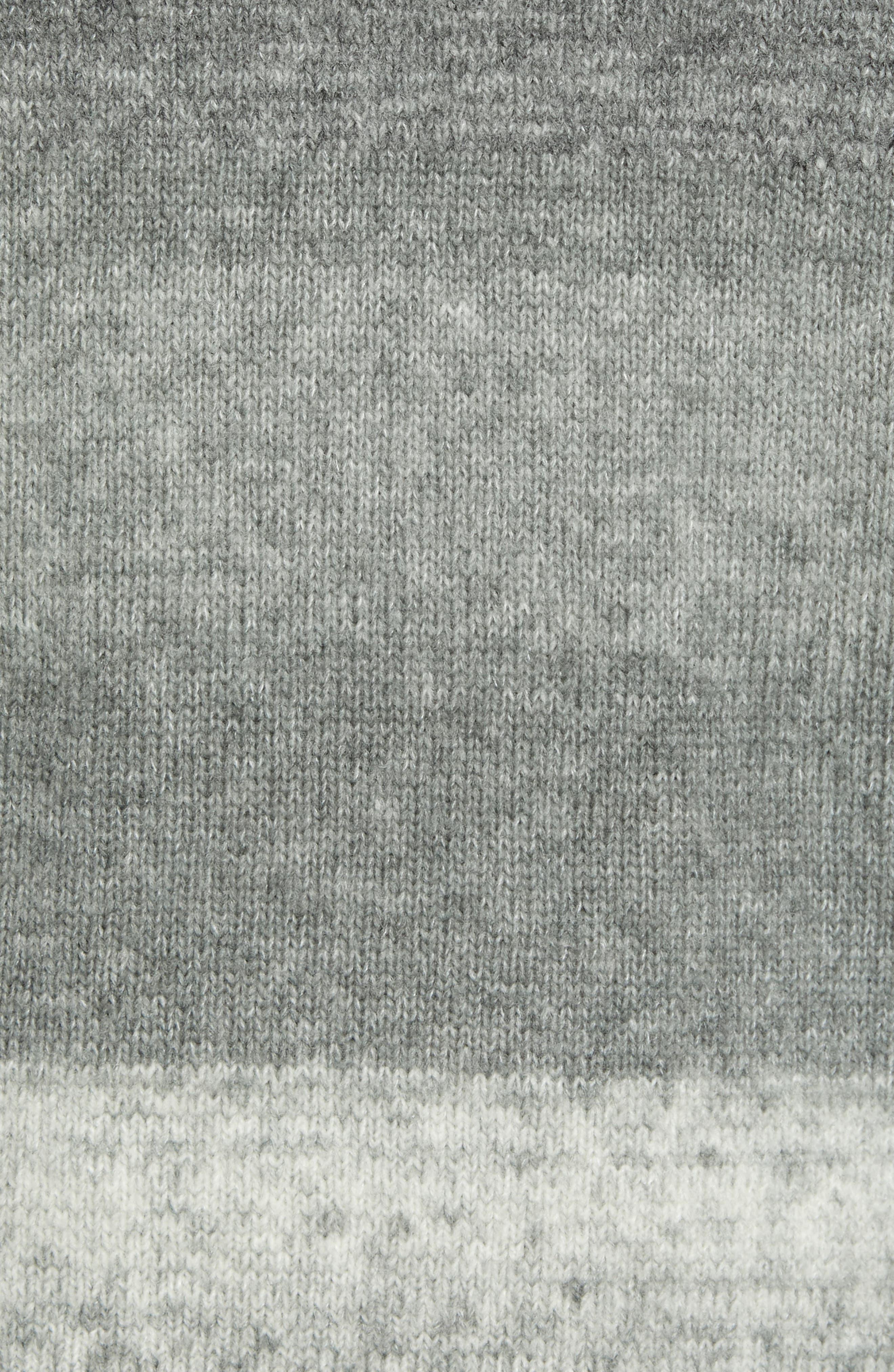 Ecardo Dégradé Virgin Wool Blend Sweater,                             Alternate thumbnail 5, color,                             GREY