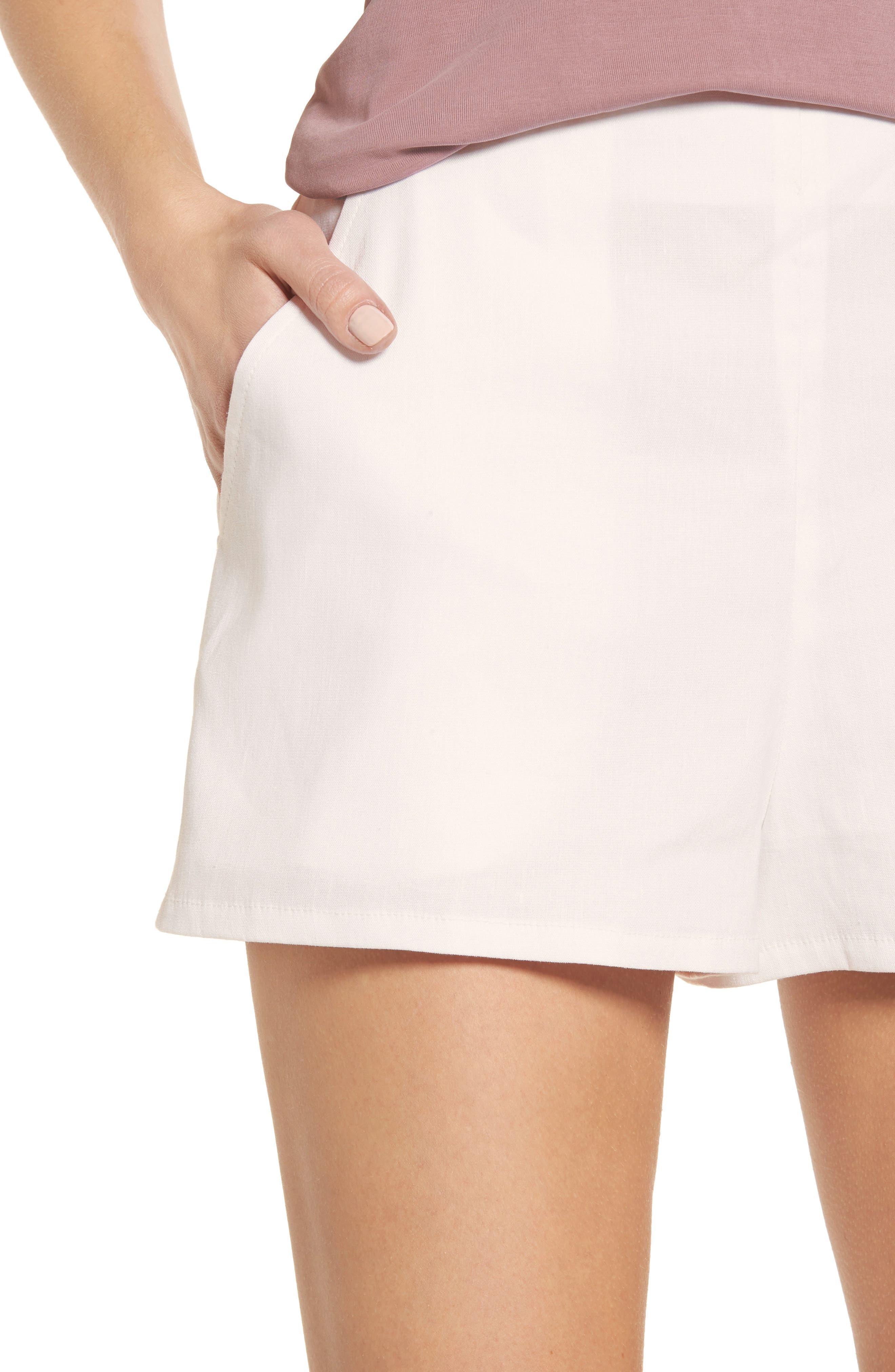 High Waist Linen Blend Shorts,                             Alternate thumbnail 20, color,