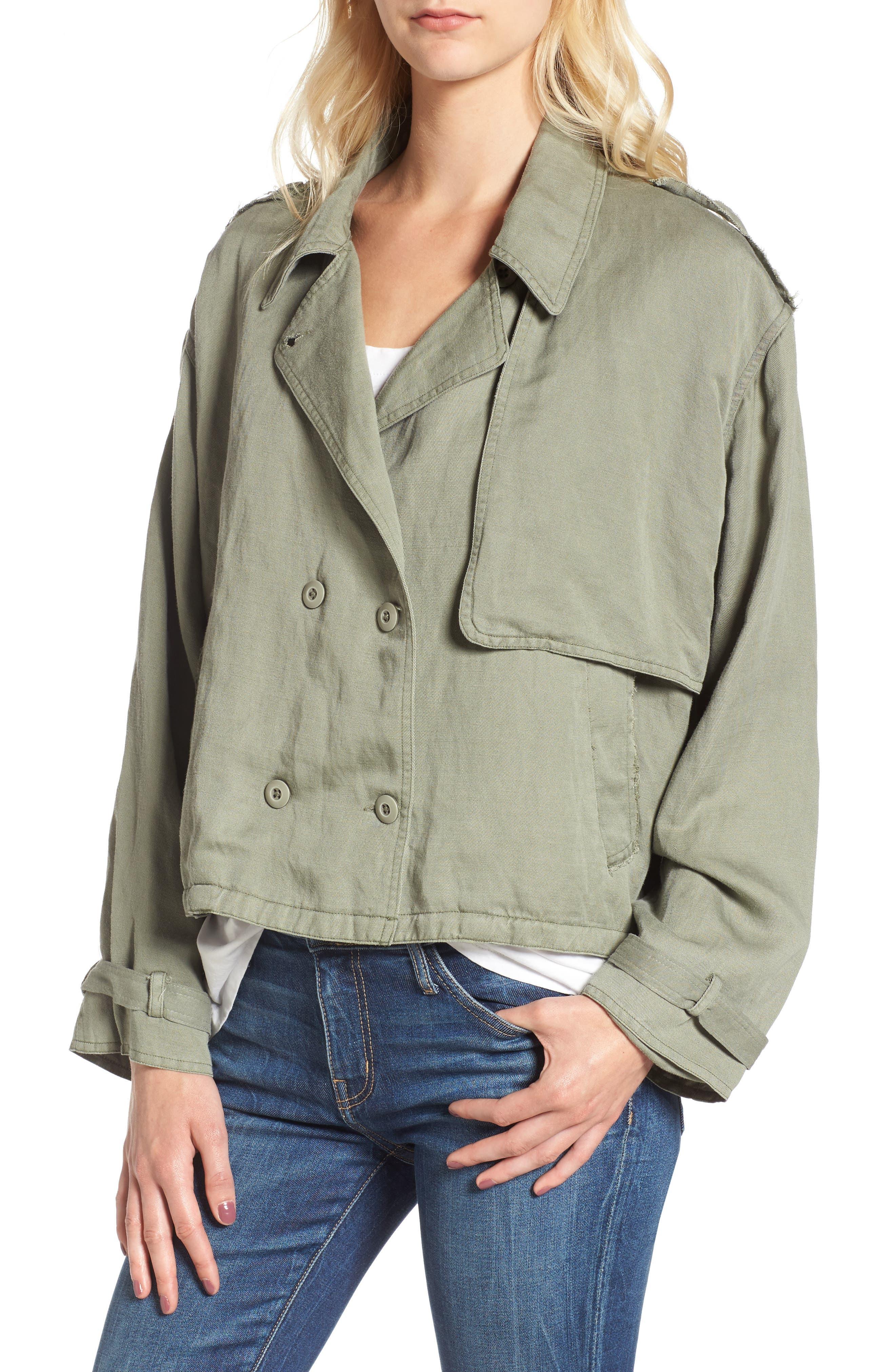 Barclay Crop Jacket,                             Alternate thumbnail 4, color,                             307