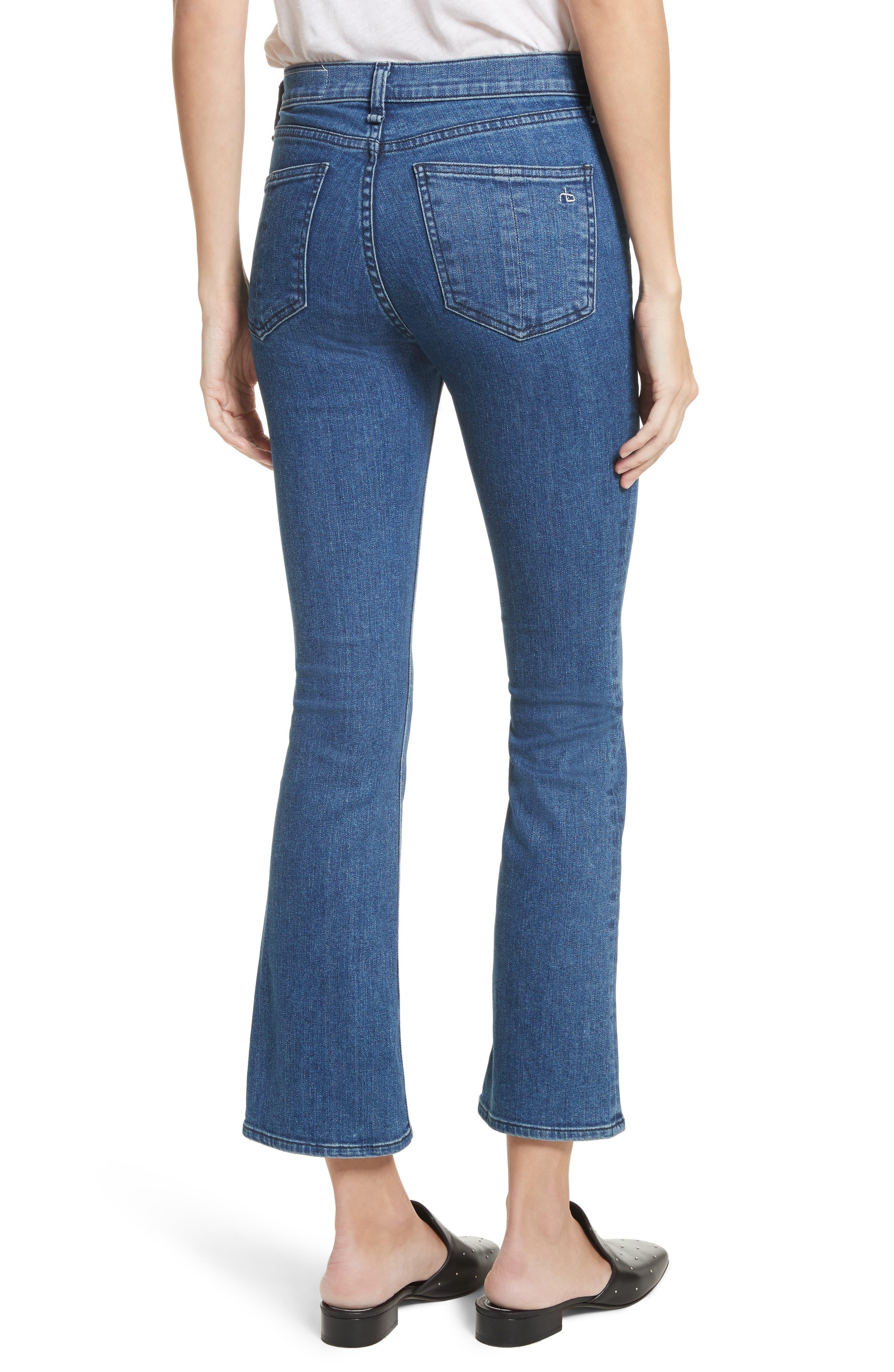 Hana High Waist Crop Bootcut Jeans,                             Alternate thumbnail 2, color,                             420