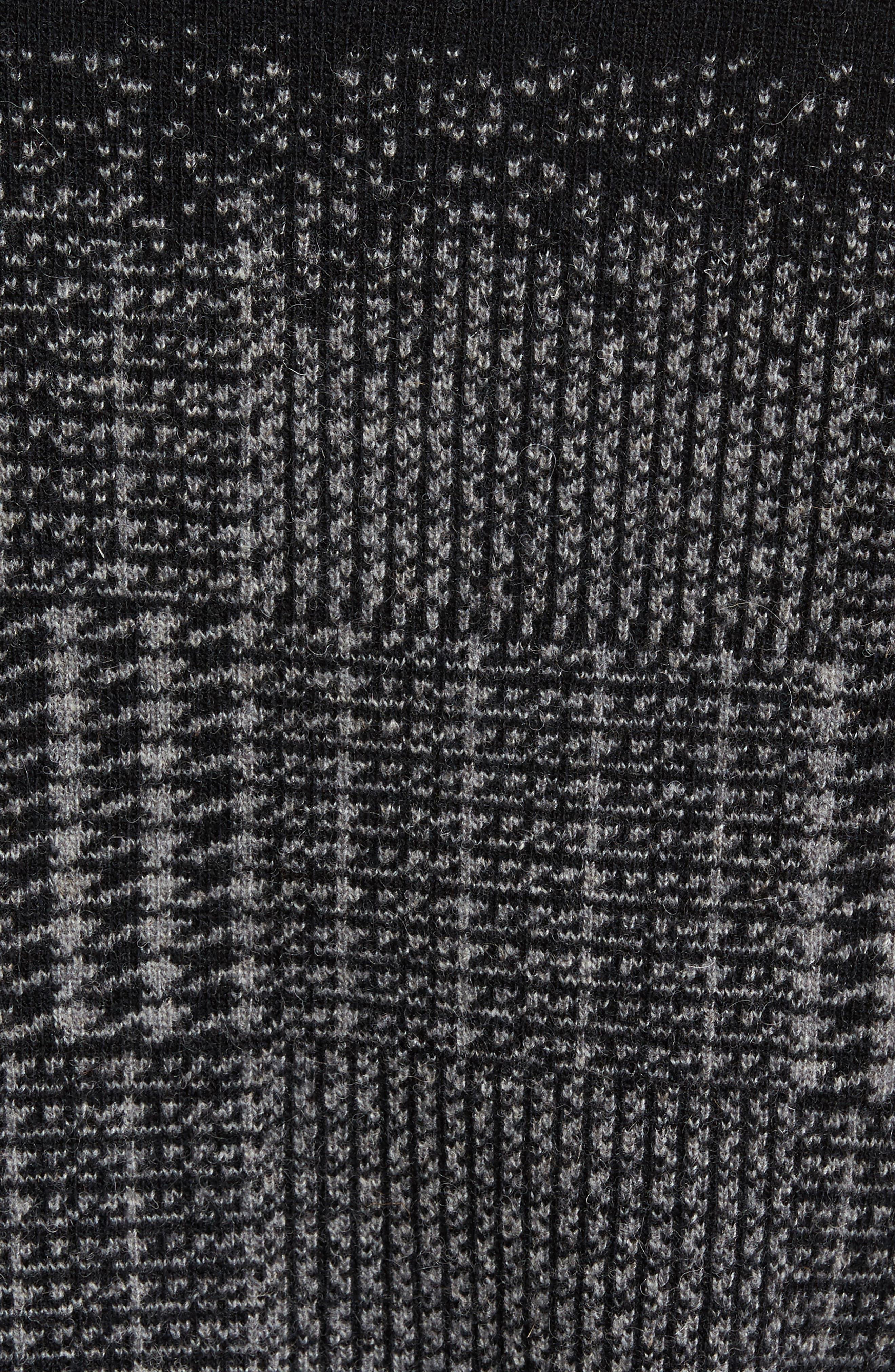 Block Pattern Wool Sweater,                             Alternate thumbnail 5, color,                             016
