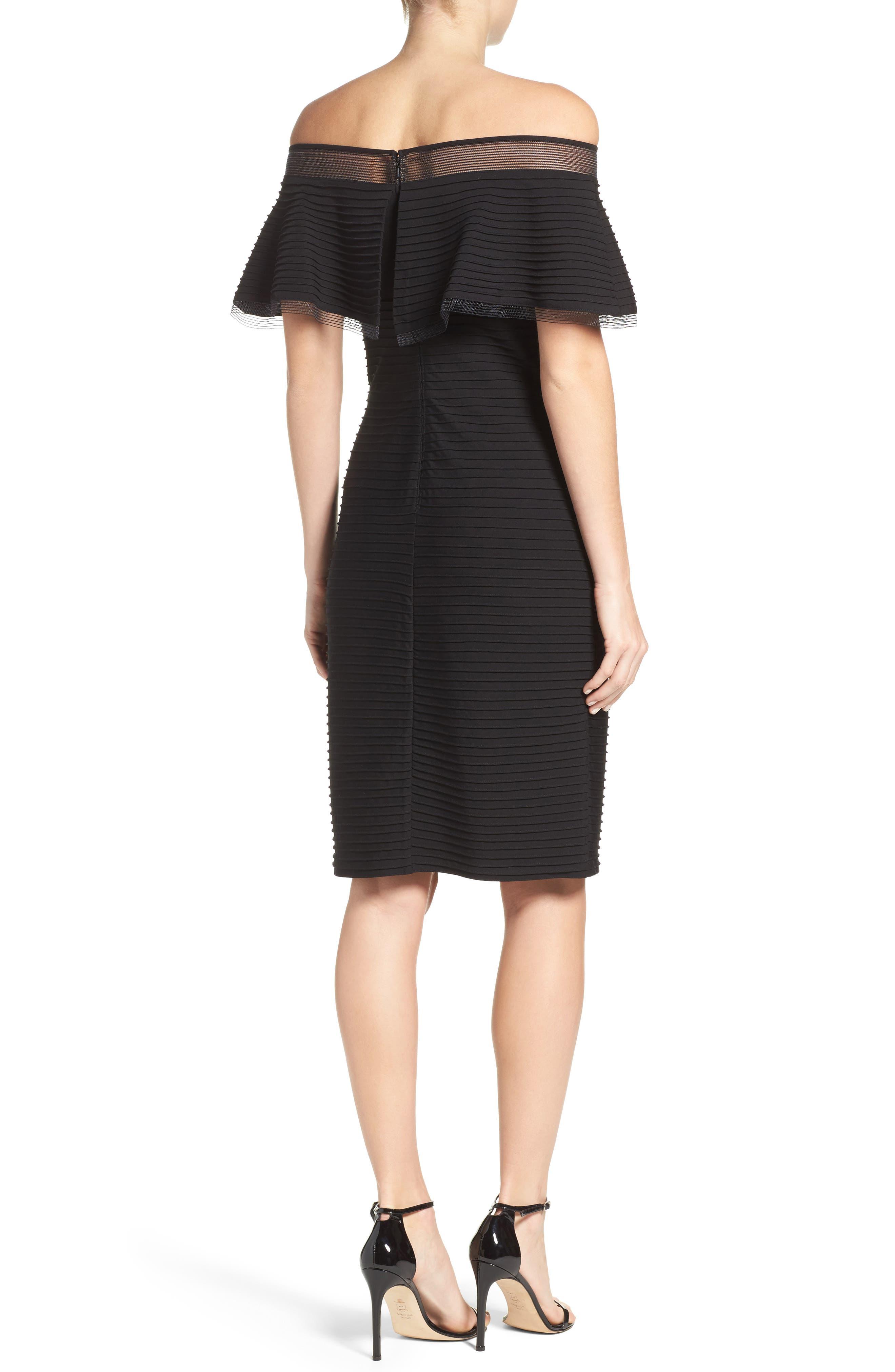 Jersey Sheath Dress,                             Alternate thumbnail 2, color,                             001