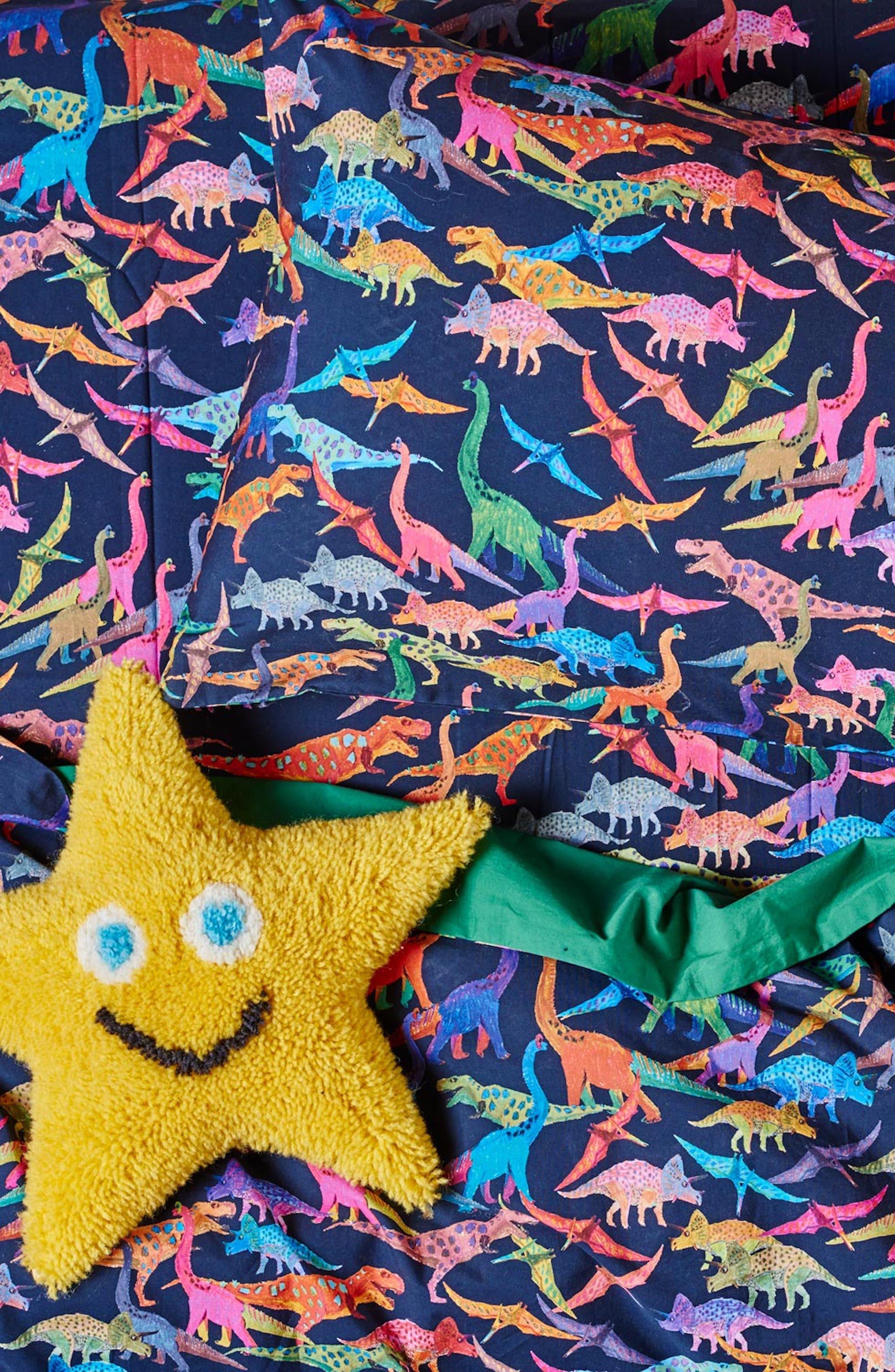 Dino Max Cotton Pillowcase,                             Main thumbnail 1, color,                             001