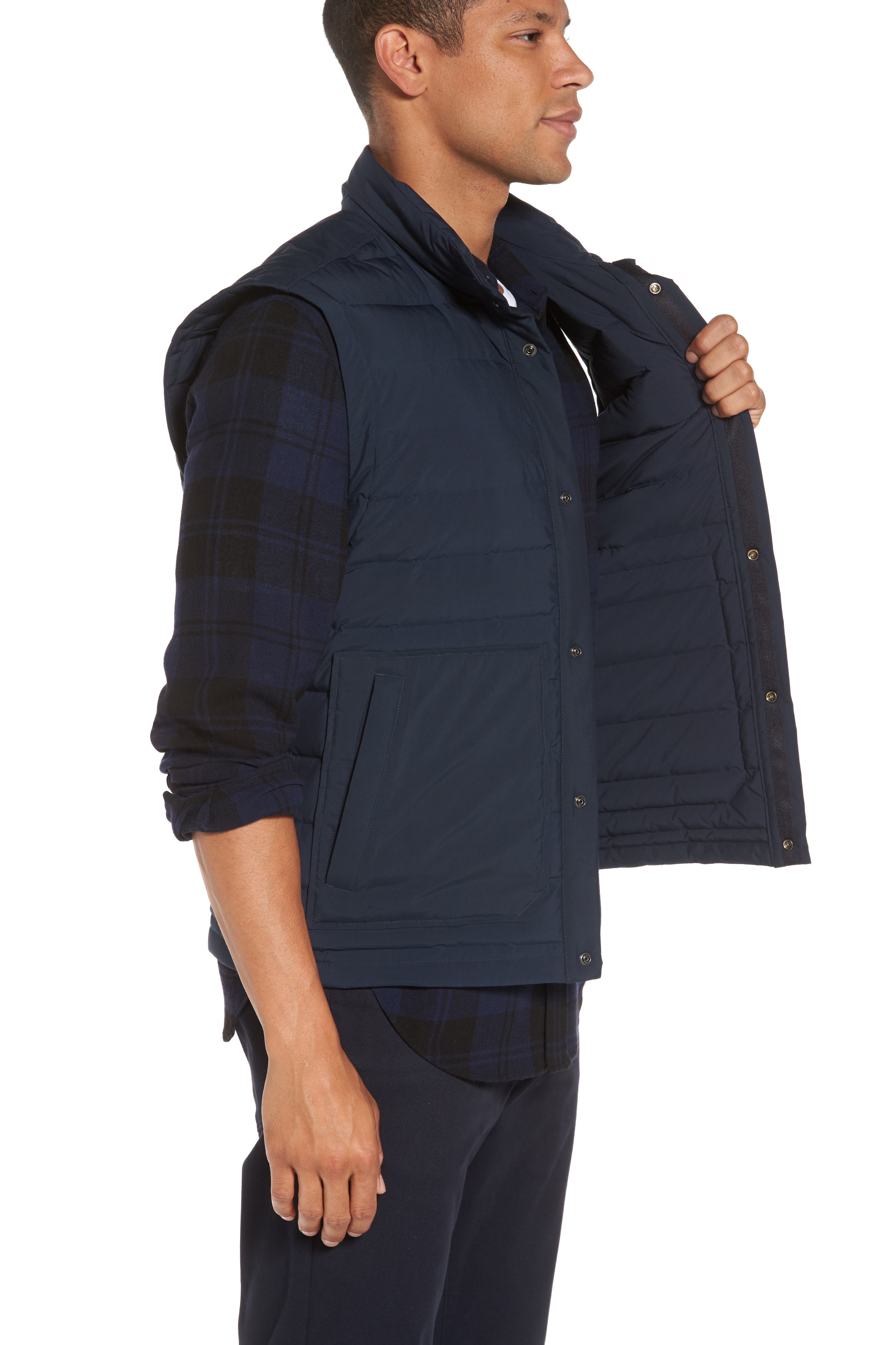 Quilted Down Vest,                             Alternate thumbnail 3, color,