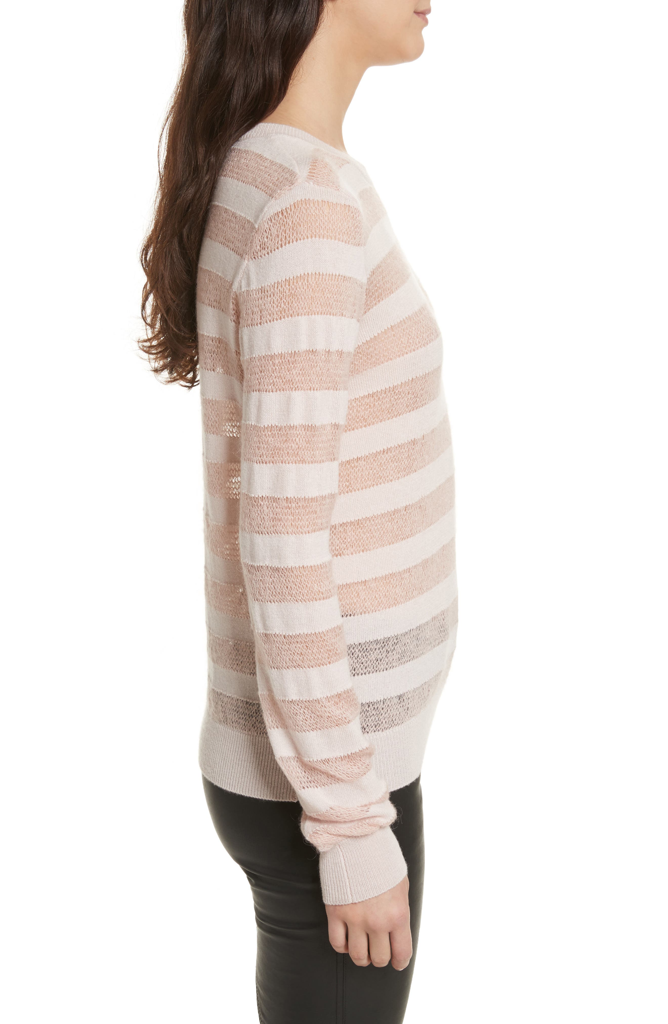 Theo Stripe Sweater,                             Alternate thumbnail 3, color,                             698