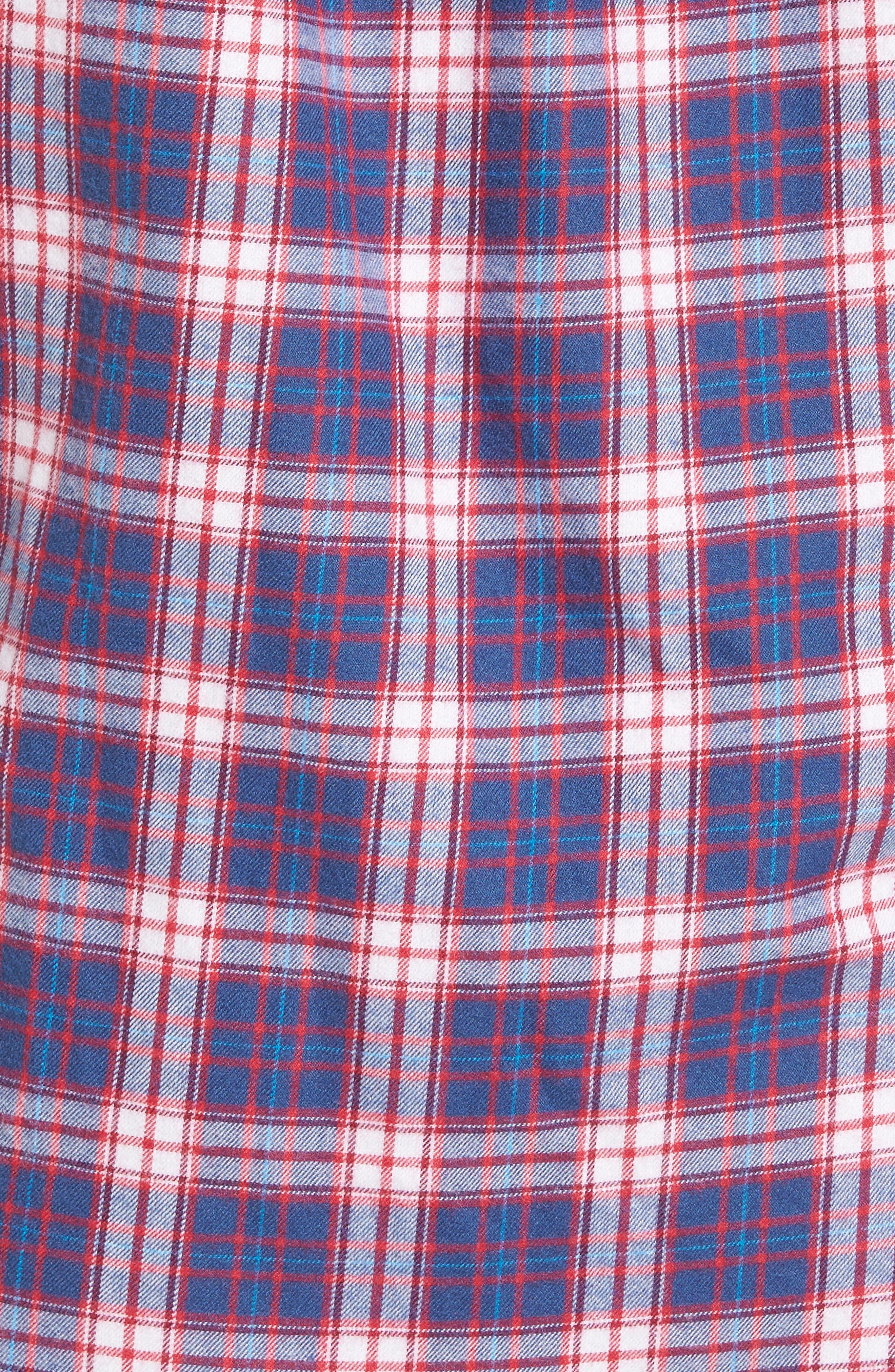 Classic Fit Silver Peak Plaid Performance Sport Shirt,                             Alternate thumbnail 5, color,