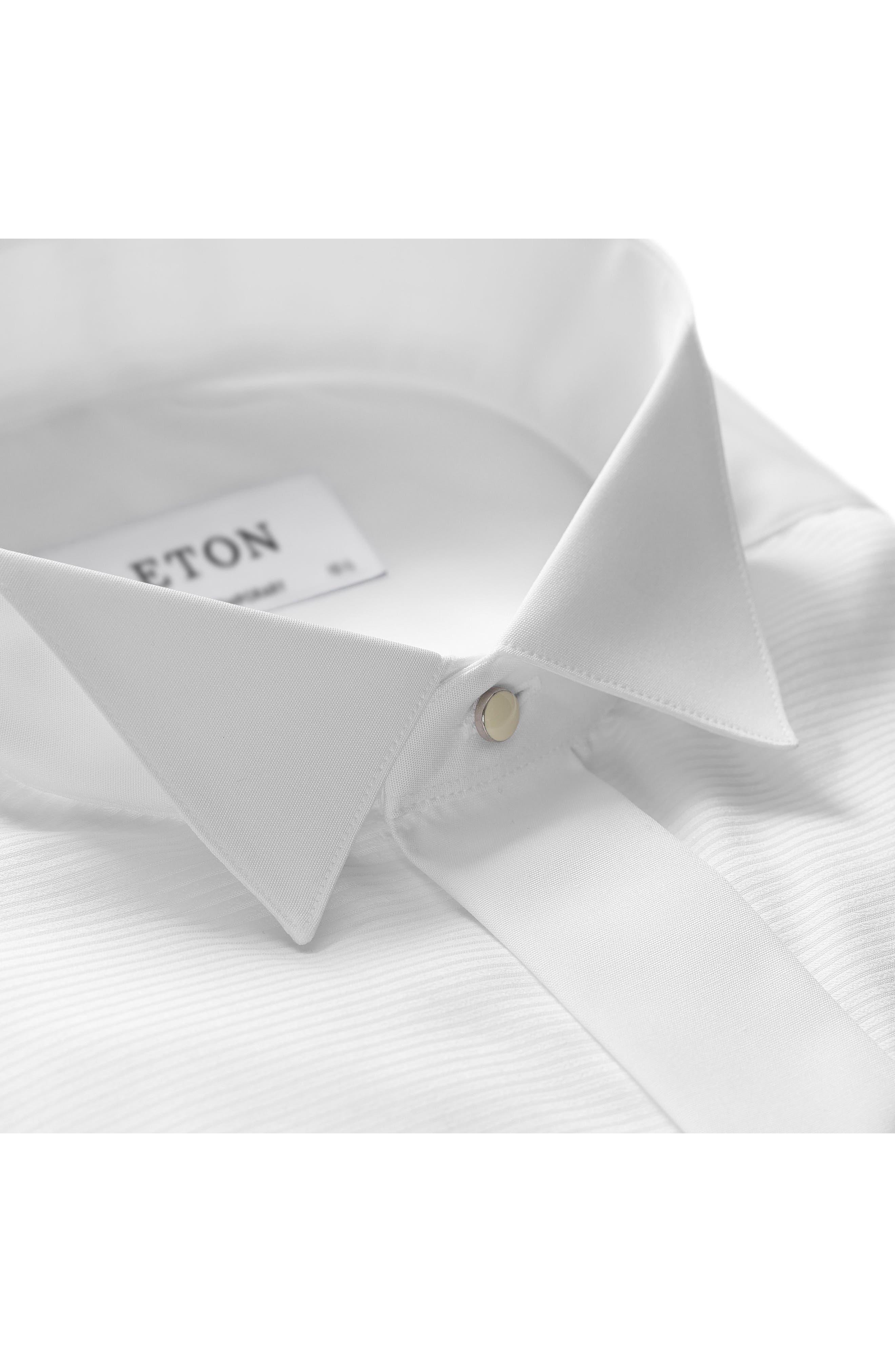 Contemporary Fit Dress Shirt,                             Alternate thumbnail 3, color,                             WHITE
