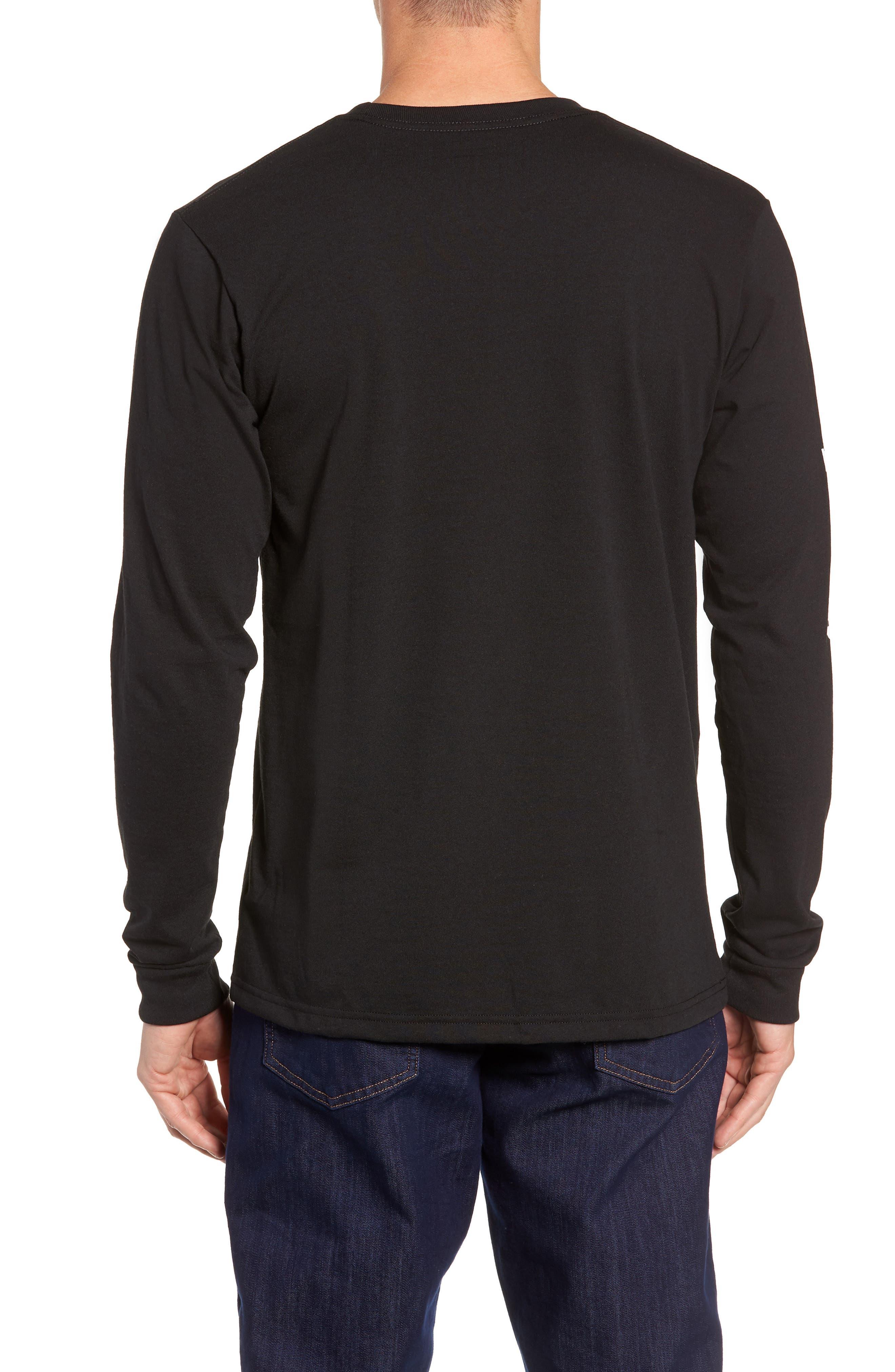 Long Sleeve Logo T-Shirt,                             Alternate thumbnail 2, color,                             BLACK