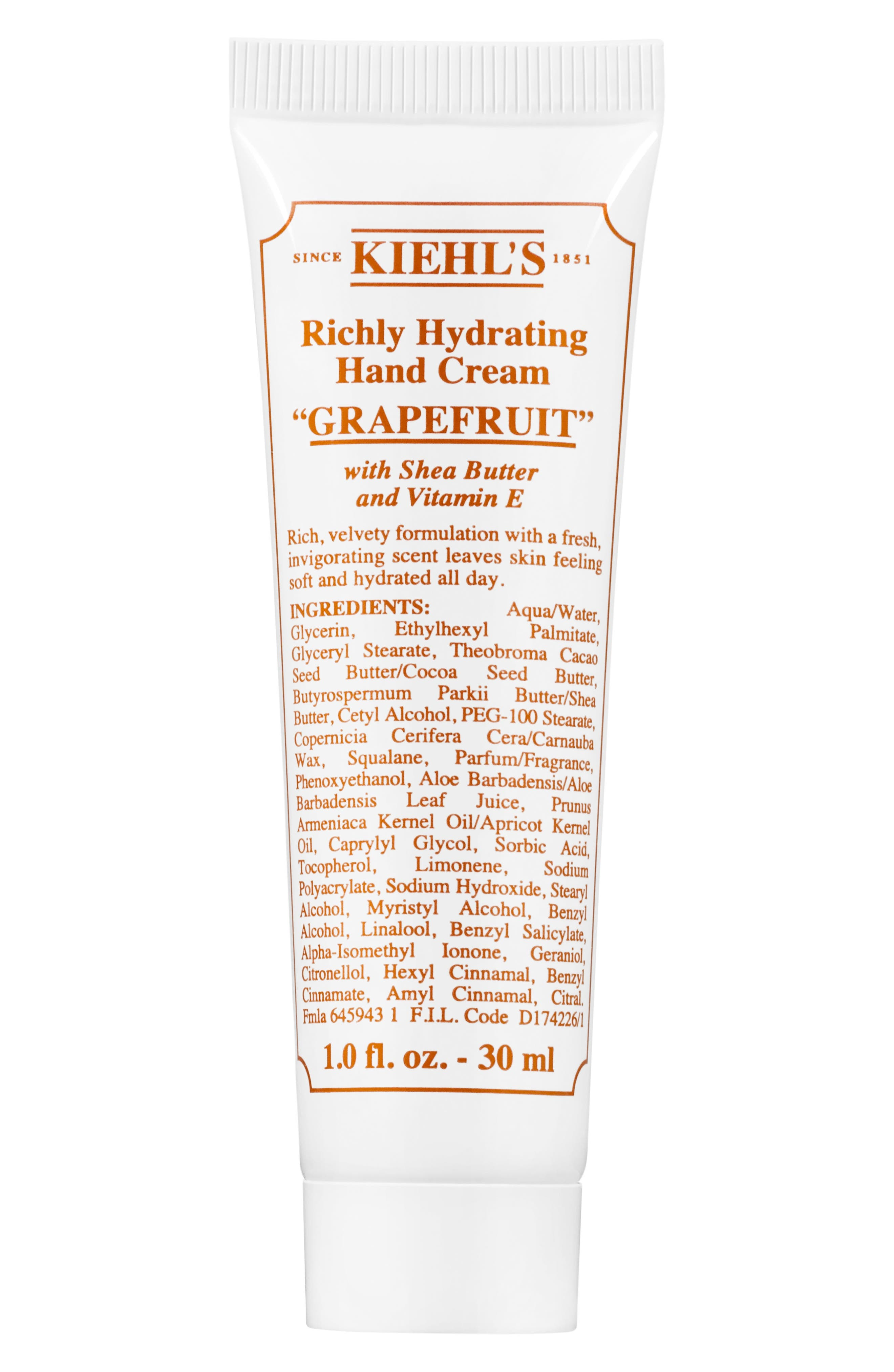 Grapefruit Richly Hydrating Scented Hand Cream,                             Alternate thumbnail 2, color,                             000