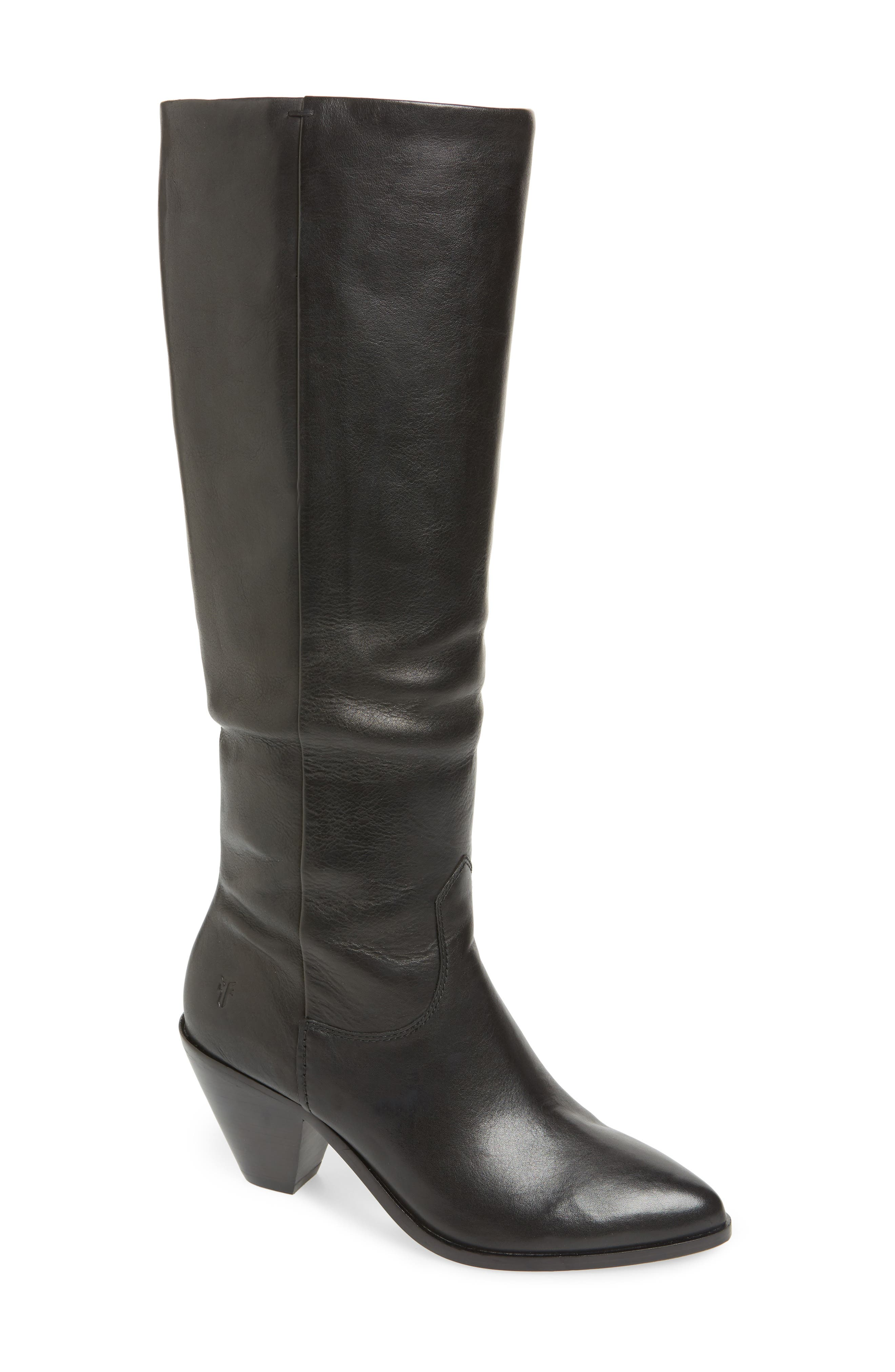 Frye Lila Slouchy Knee High Boot- Black