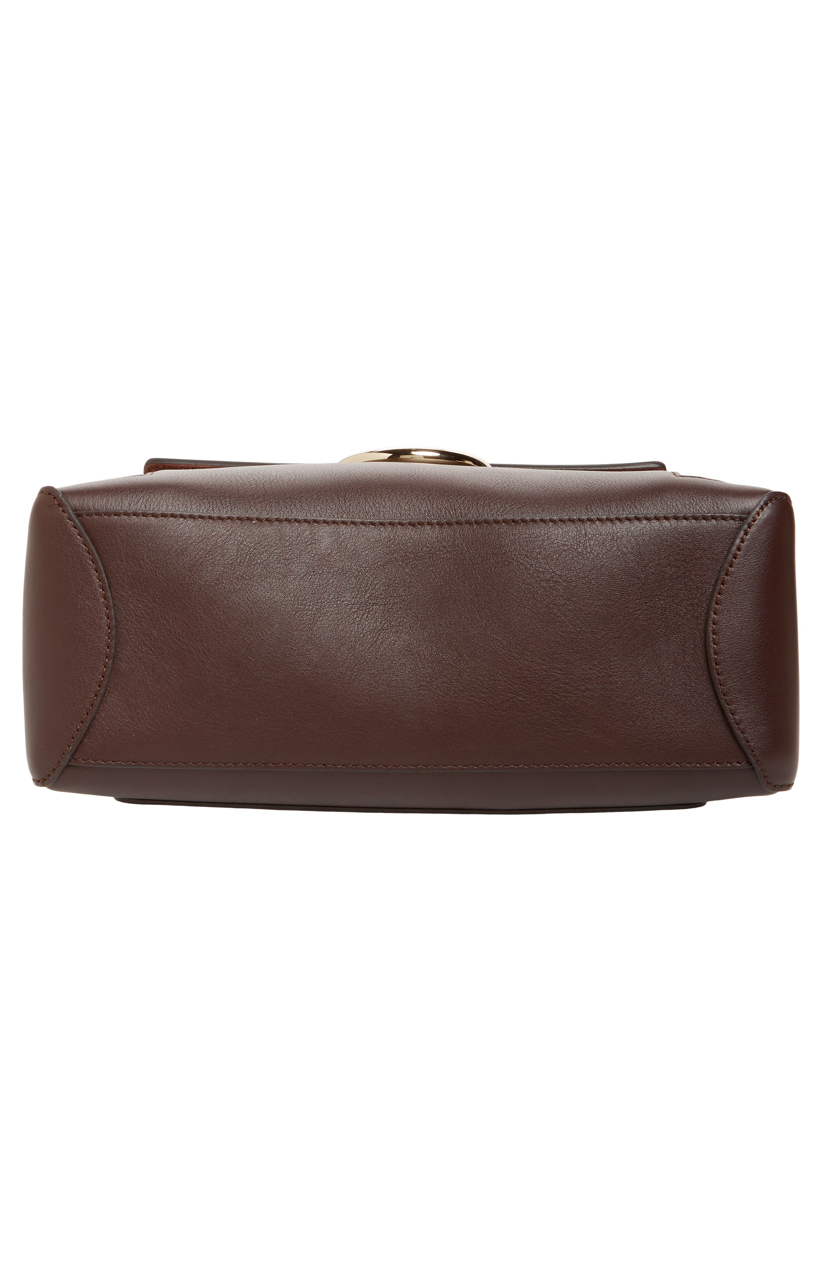 Small Faye Day Leather Shoulder Bag,                             Alternate thumbnail 6, color,                             CARBON BROWN
