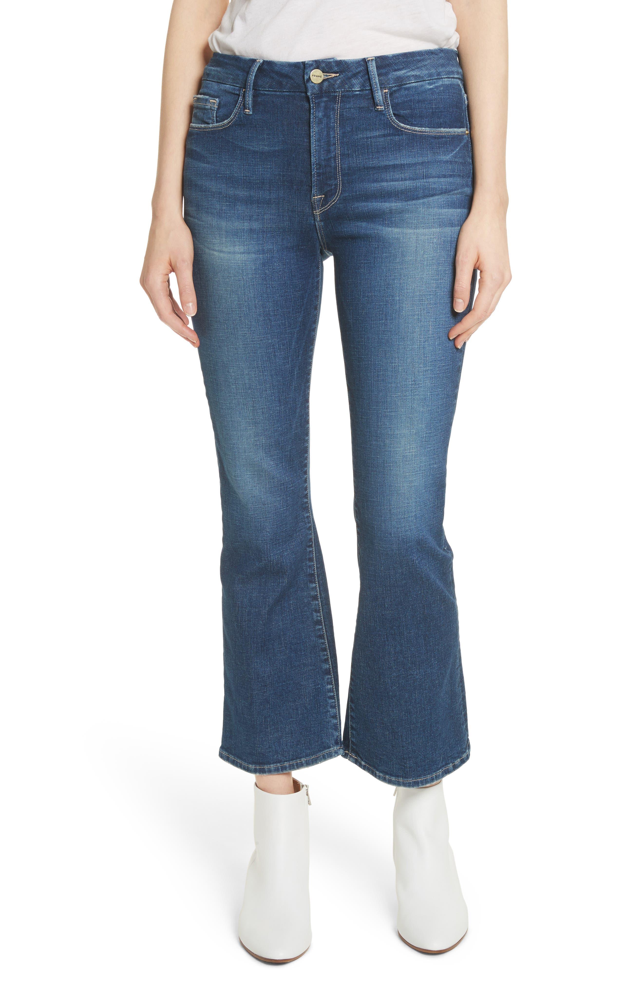 Le Crop Mini Boot Jeans,                             Main thumbnail 1, color,                             401