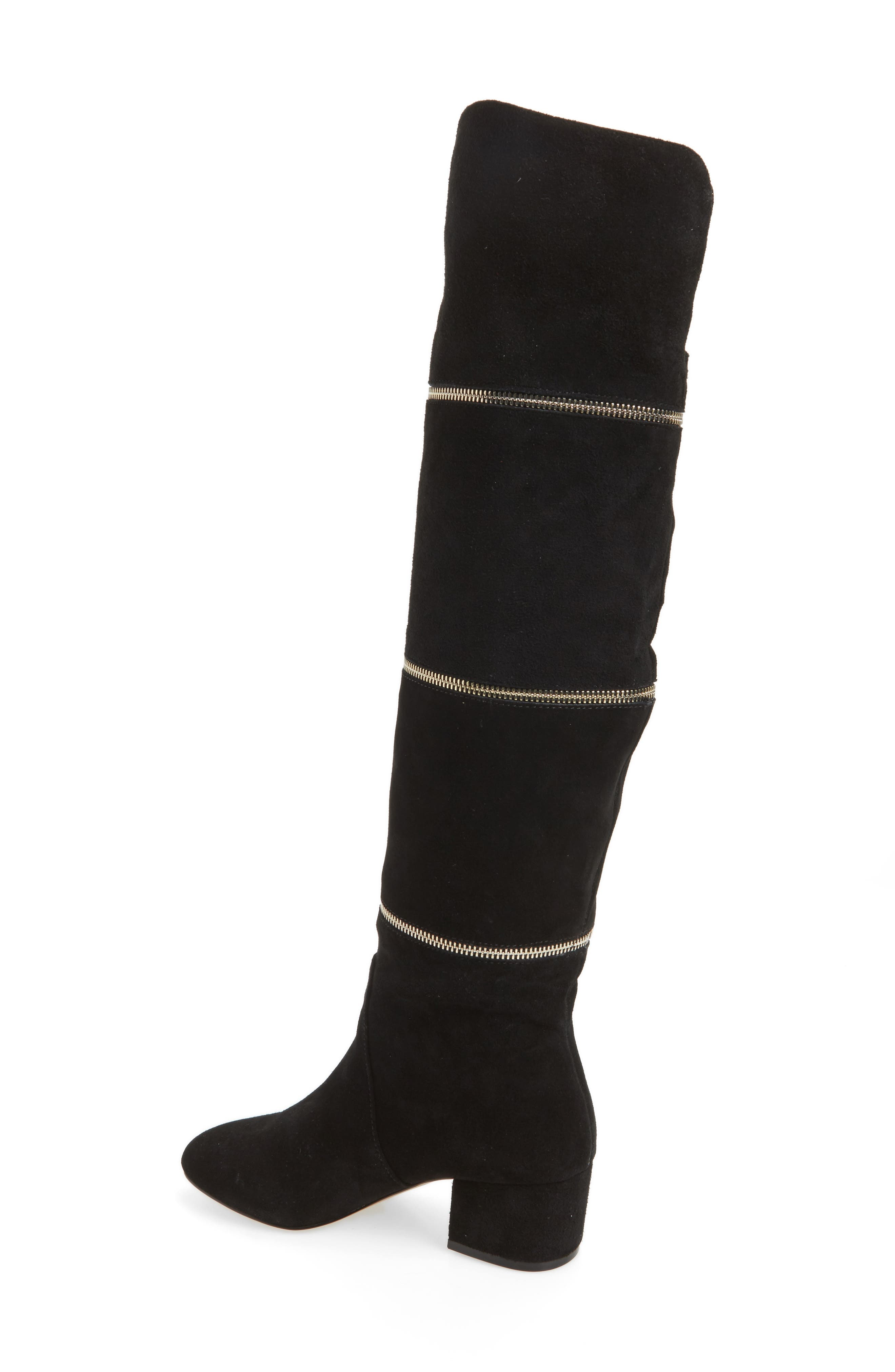 Grace Zip Over the Knee Boot,                             Alternate thumbnail 2, color,                             001