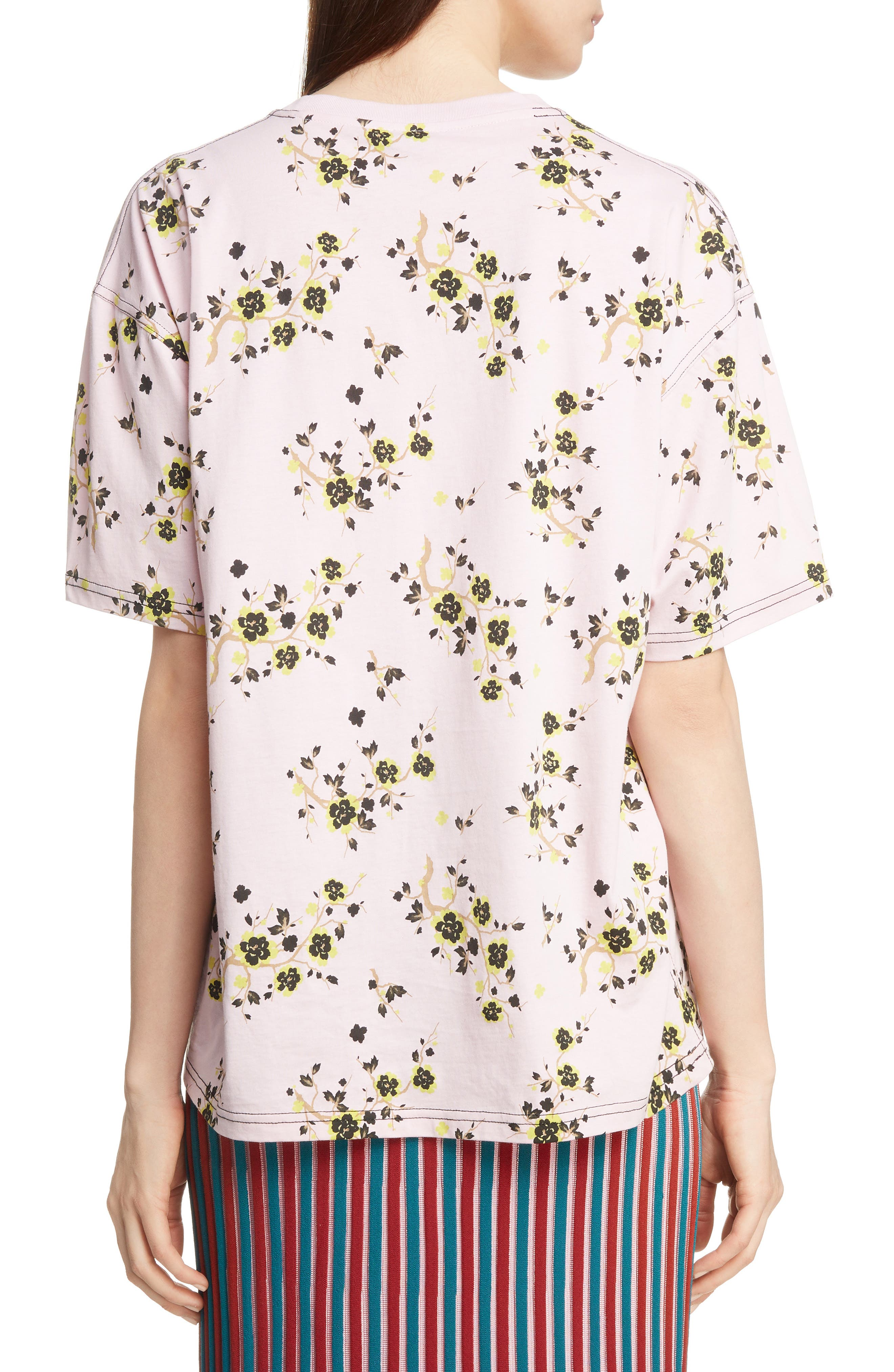 Floral Oversized Tee,                             Alternate thumbnail 2, color,                             PASTEL PINK