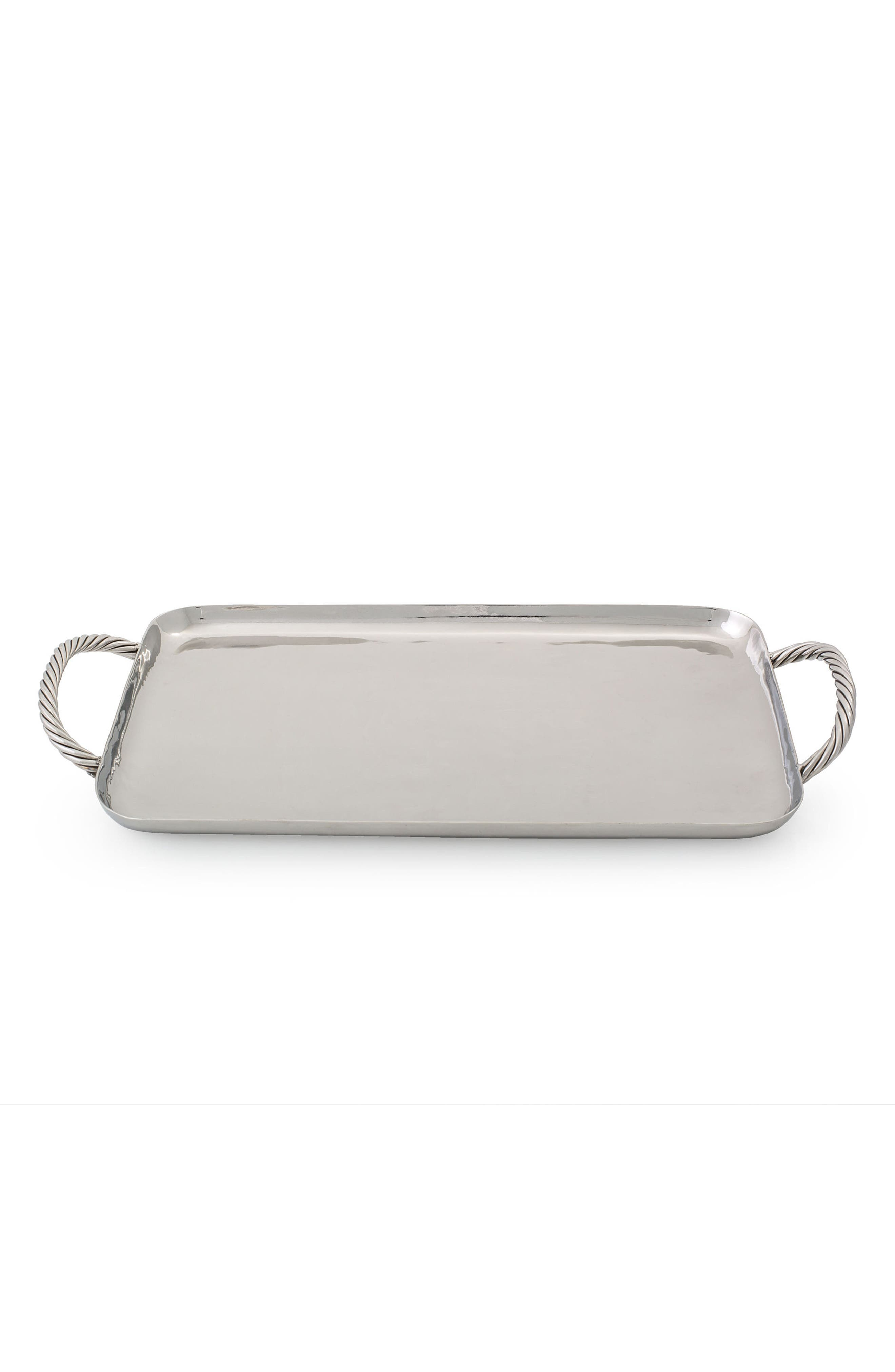 Medium Twist Stainless Steel Tray,                             Main thumbnail 1, color,                             040