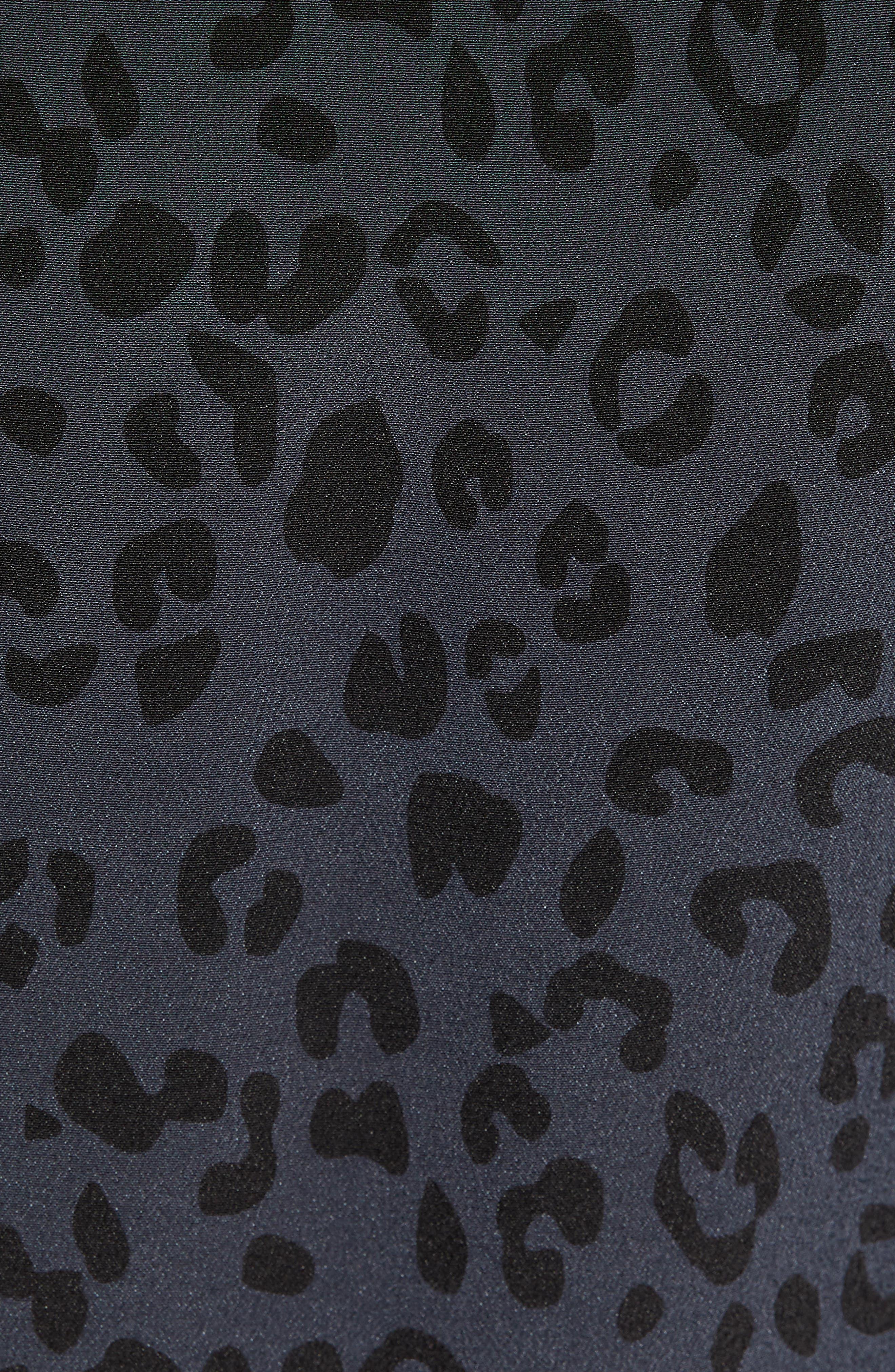 Hana Cheetah Print Dress,                             Alternate thumbnail 6, color,                             ONYX CHEETAH
