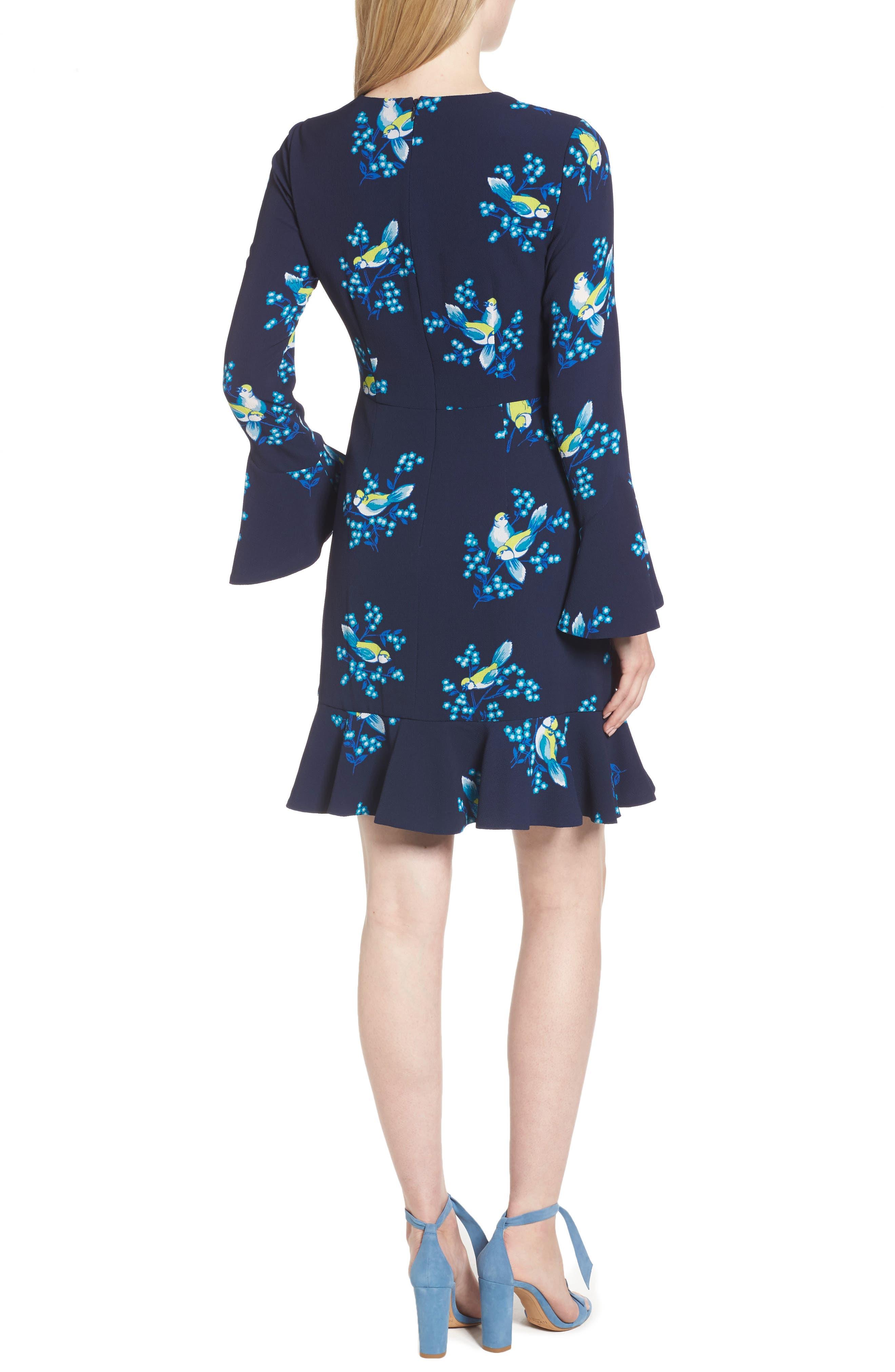 Magnolia Mockingbird Bell Sleeve A-line Dress,                             Alternate thumbnail 2, color,                             432