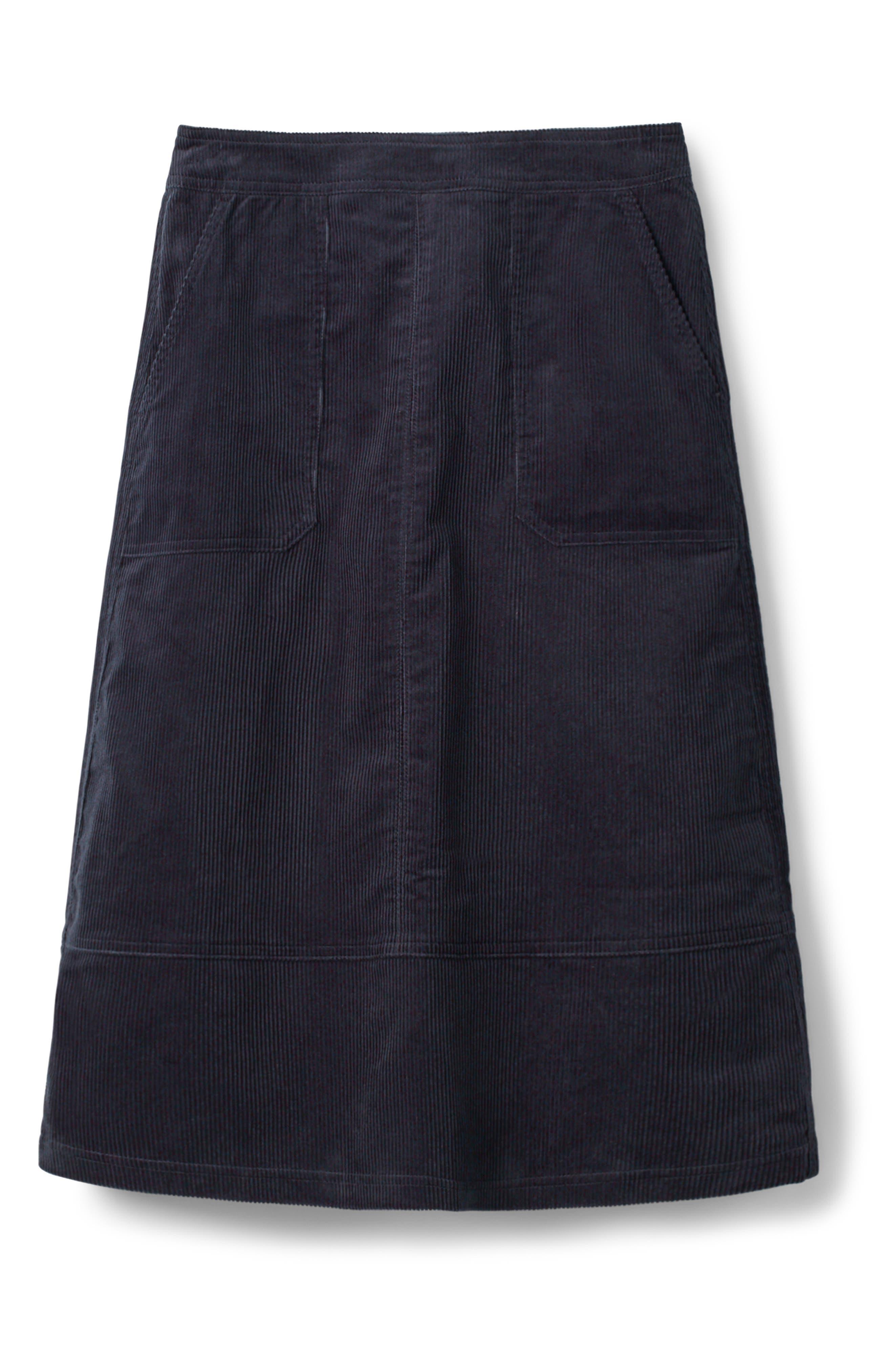 Patch Pocket Corduroy Midi Skirt,                             Alternate thumbnail 5, color,                             024