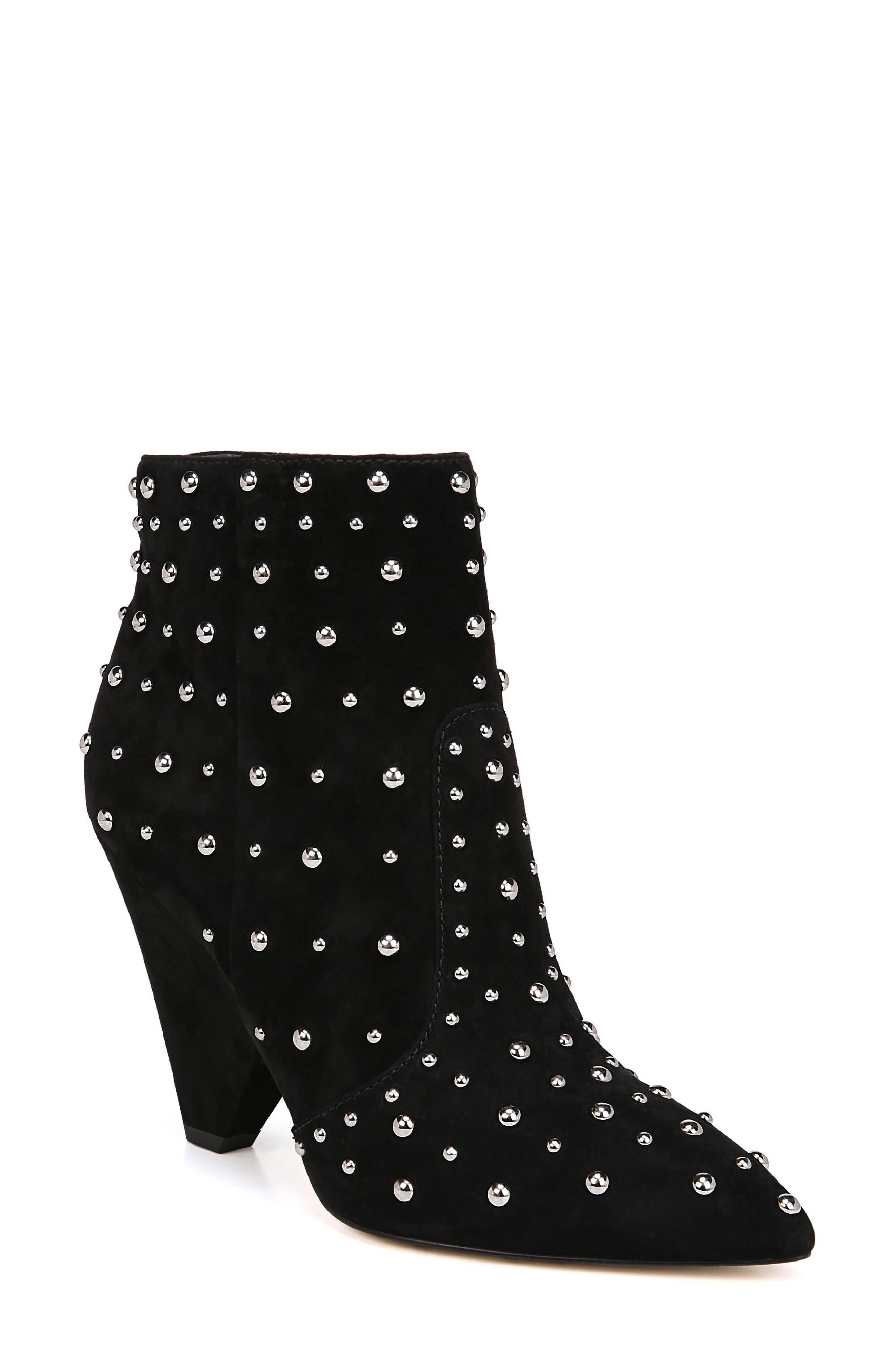 Roya Studded Boot,                         Main,                         color, BLACK SUEDE