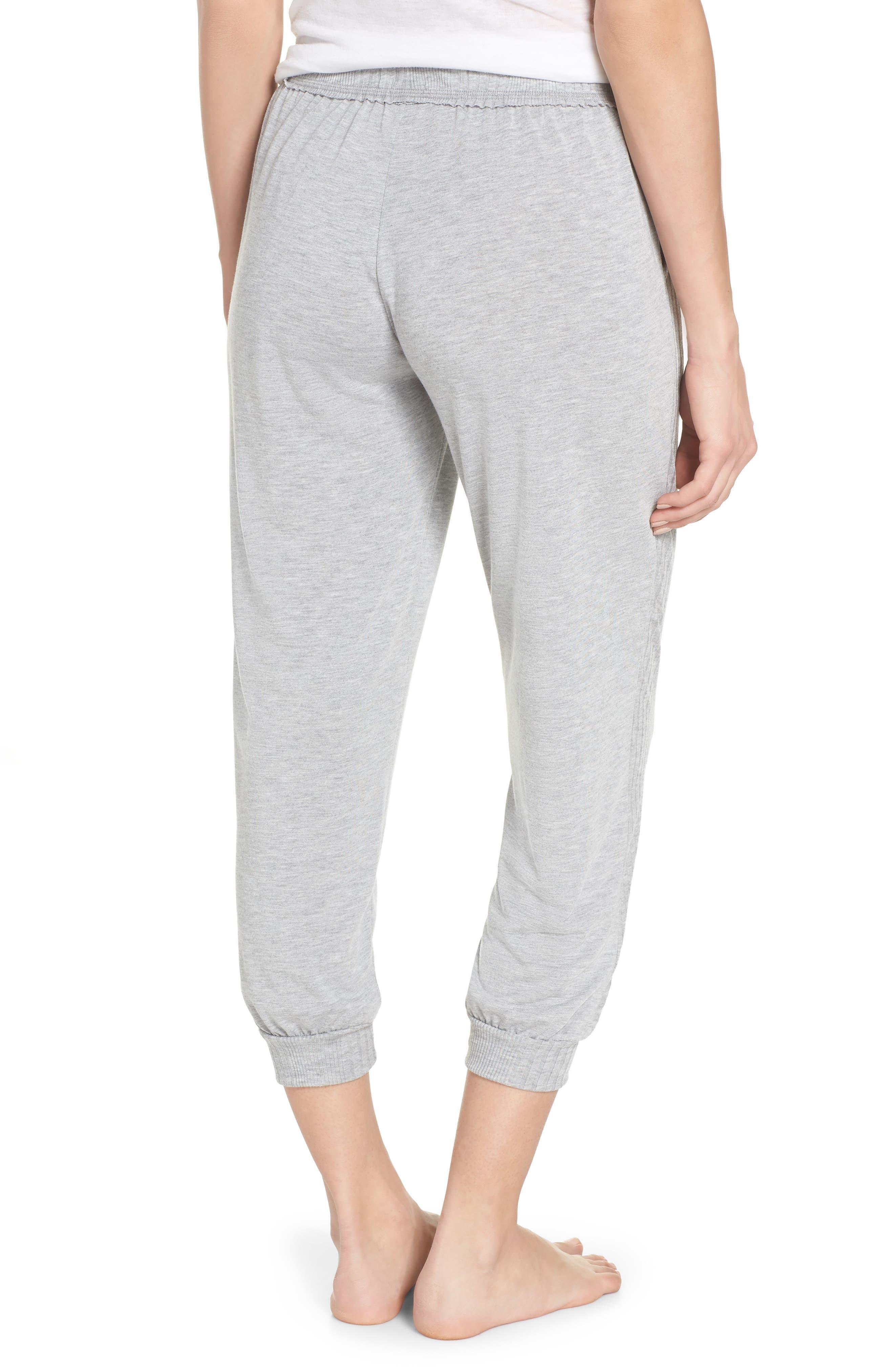Crop Pajama Pants,                             Alternate thumbnail 2, color,                             LIGHT HEATHER GREY