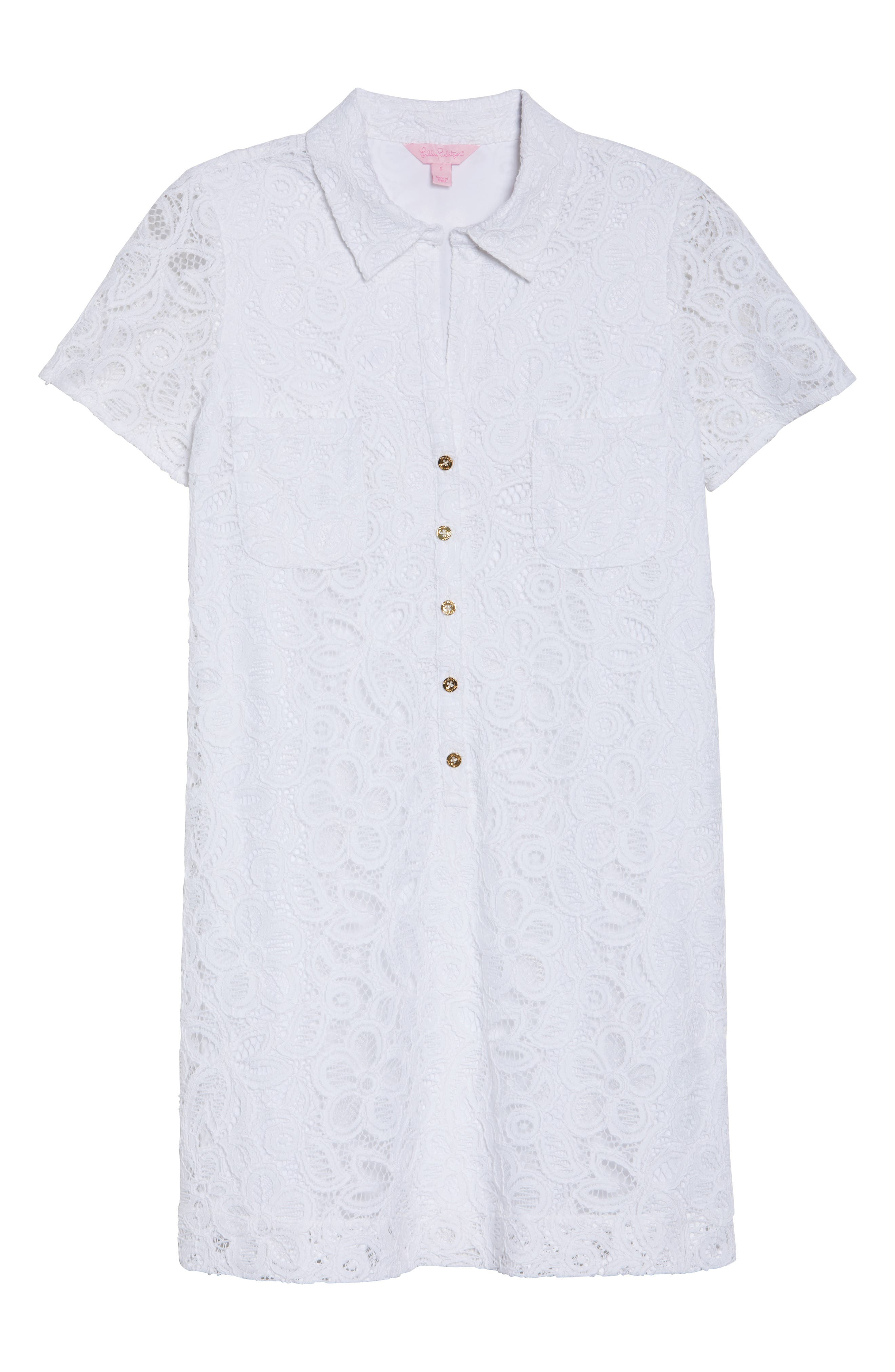 Nelle Lace Shirtdress,                             Alternate thumbnail 6, color,