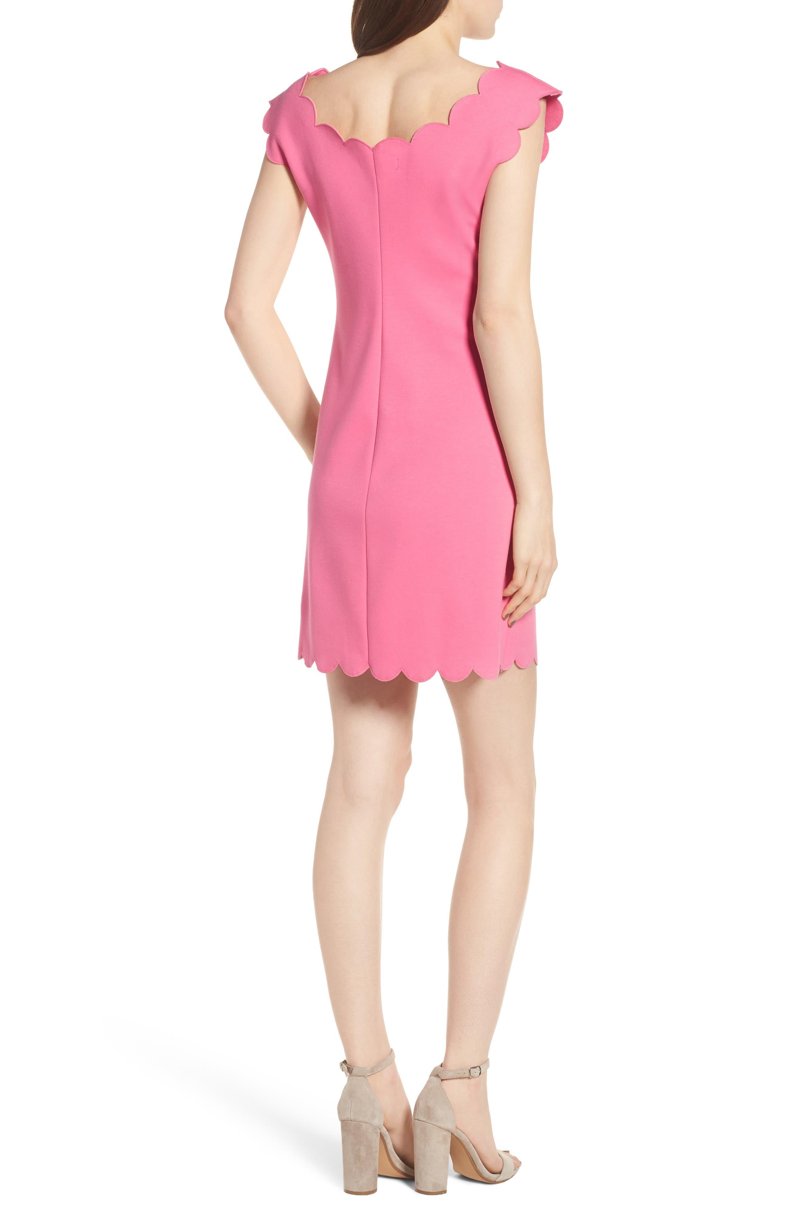 Petal Scalloped A-Line Dress,                             Alternate thumbnail 4, color,