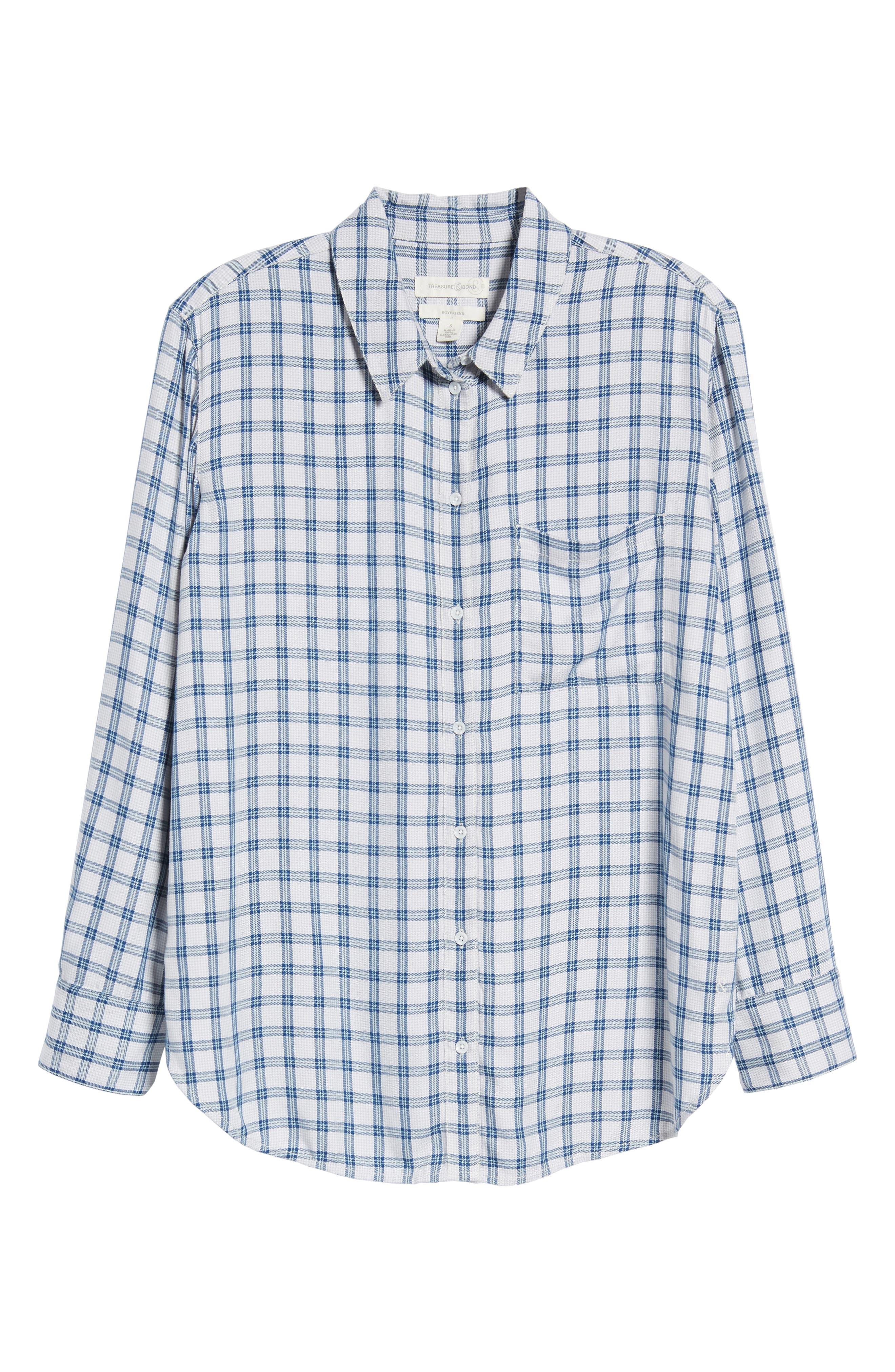 Plaid Boyfriend Shirt,                             Alternate thumbnail 29, color,