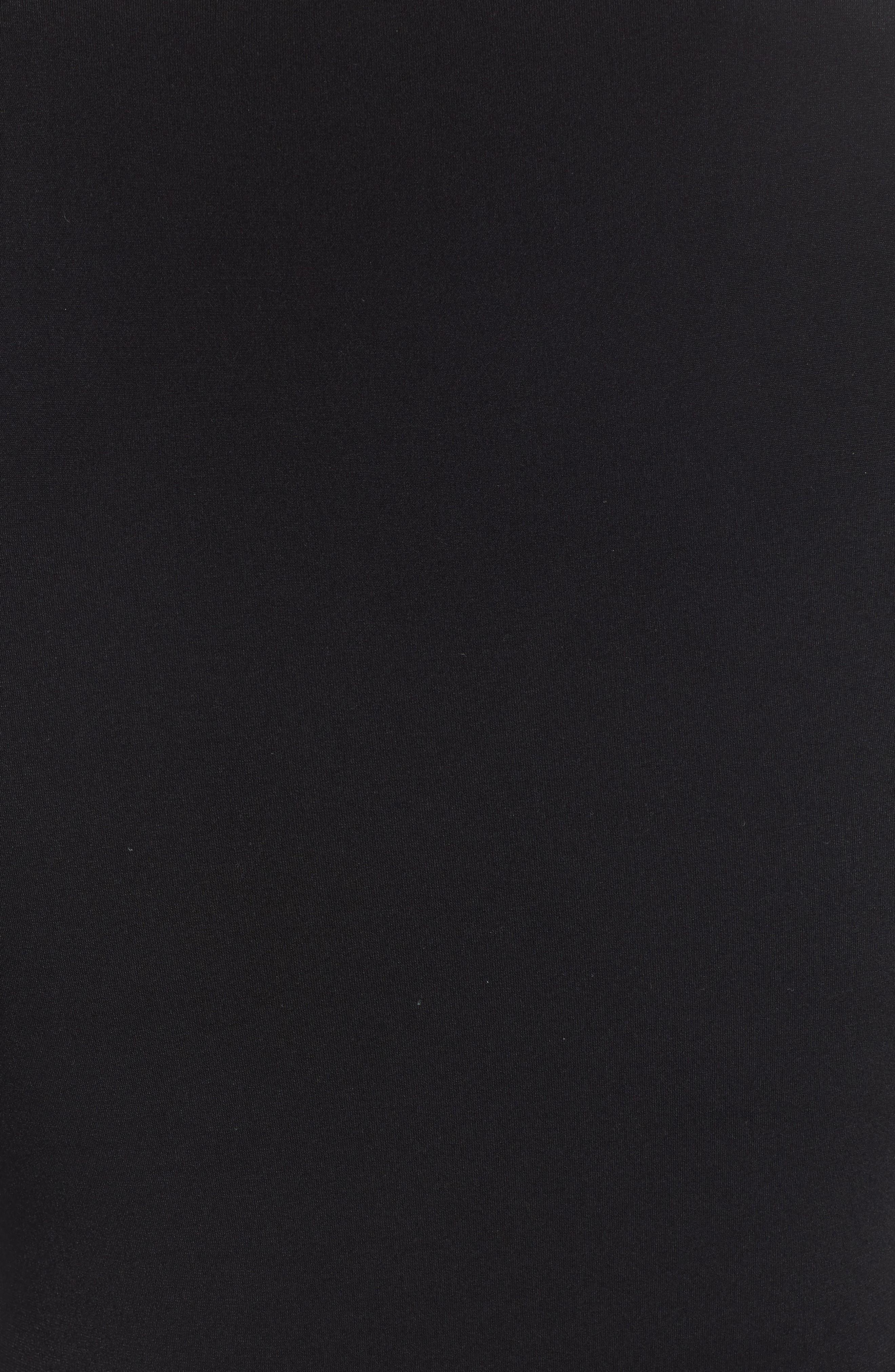 Deep V-Neck Long Sleeve Bodysuit,                             Alternate thumbnail 5, color,                             BLACK
