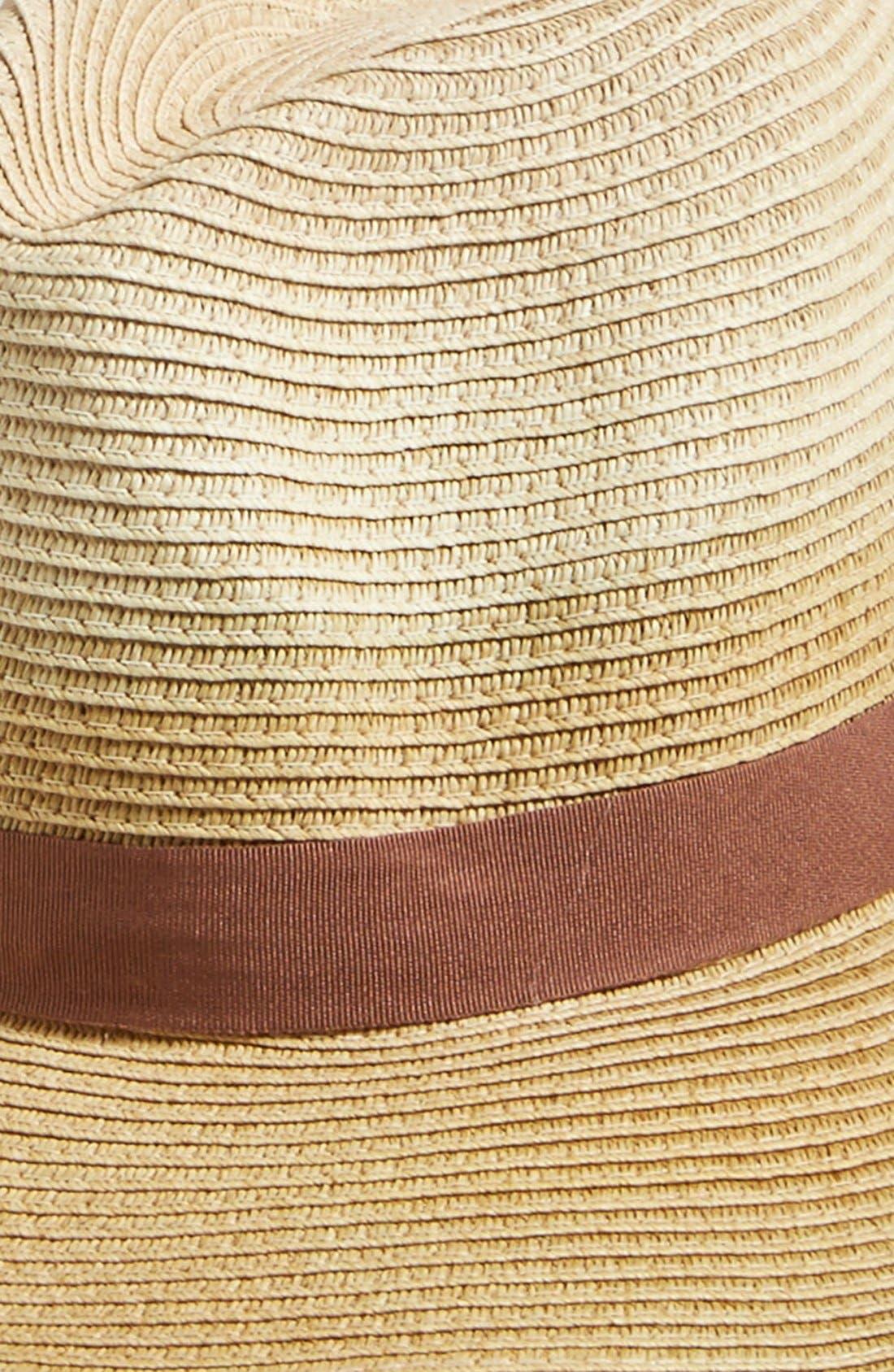 T+C BY THEODORA & CALLUM,                             Dip Dye Straw Panama Hat,                             Alternate thumbnail 2, color,                             250