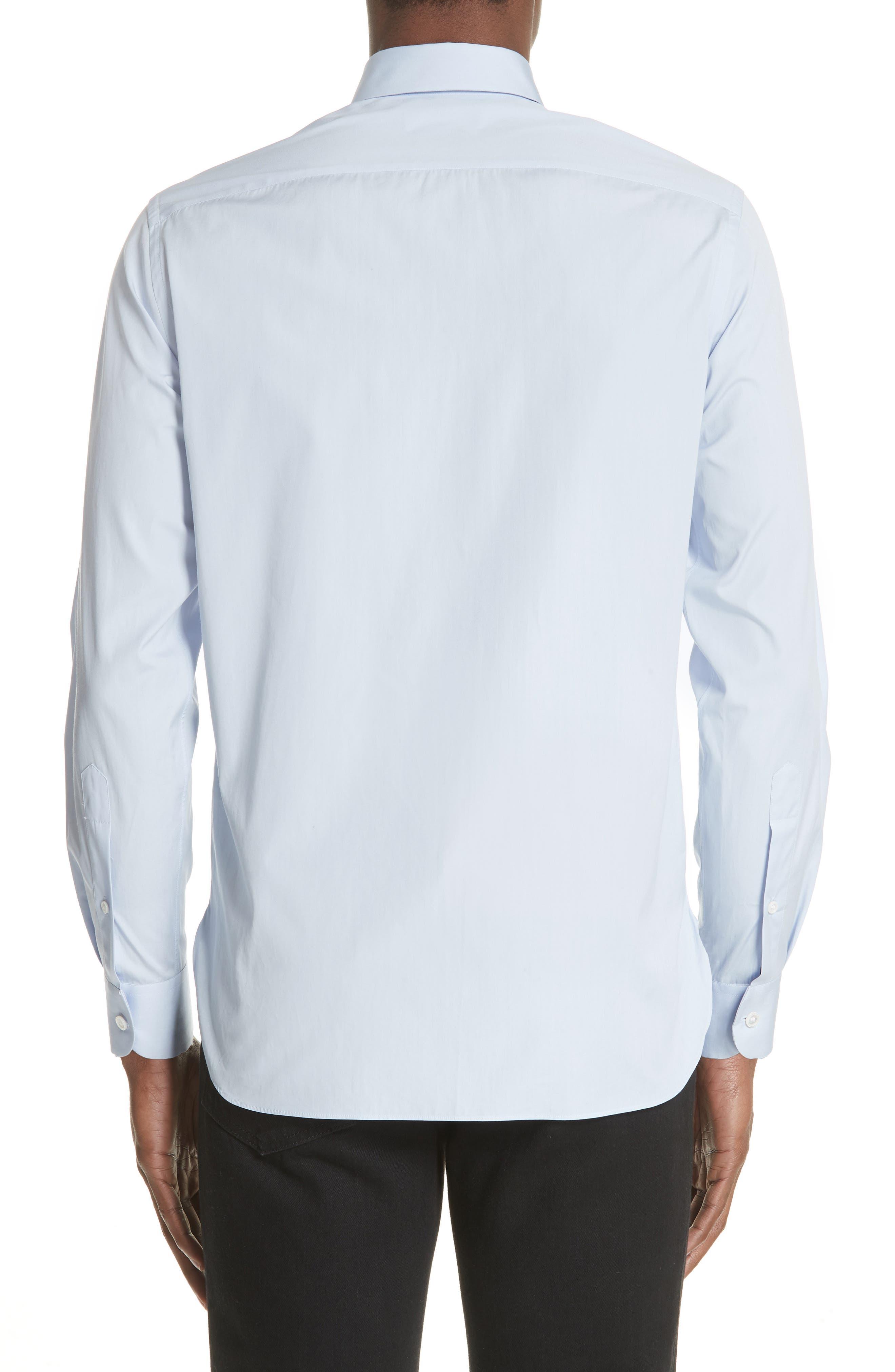 Poplin Shirt,                             Alternate thumbnail 2, color,                             BABY BLUE
