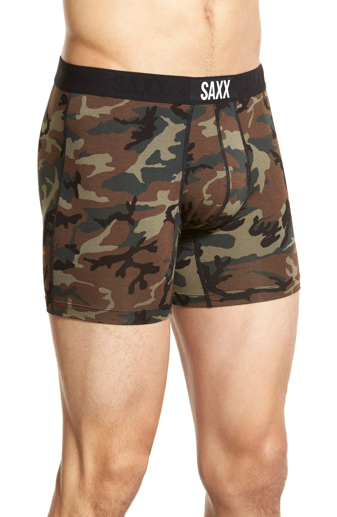 'Vibe' Stretch Boxer Briefs,                             Alternate thumbnail 8, color,                             WOODLAND