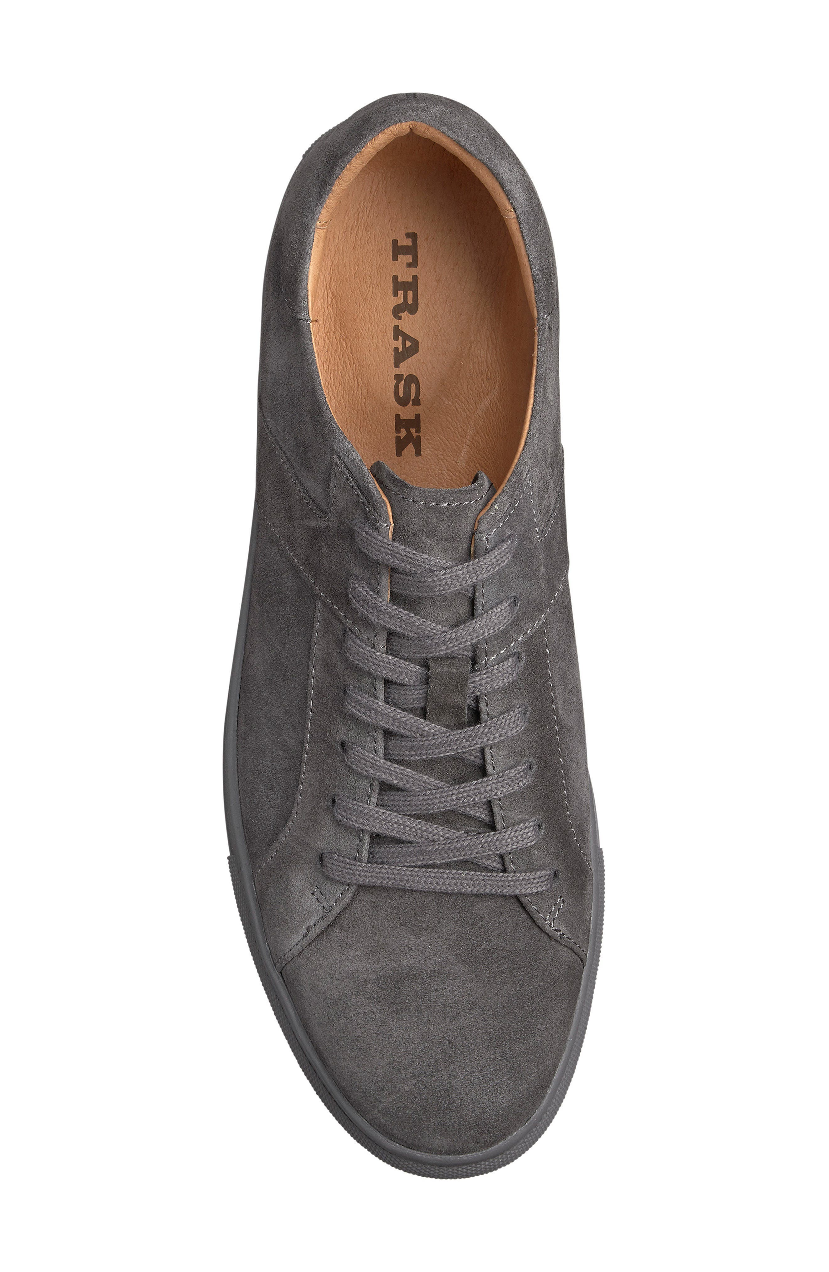 Aaron Sneaker,                             Alternate thumbnail 3, color,                             GRAY SUEDE