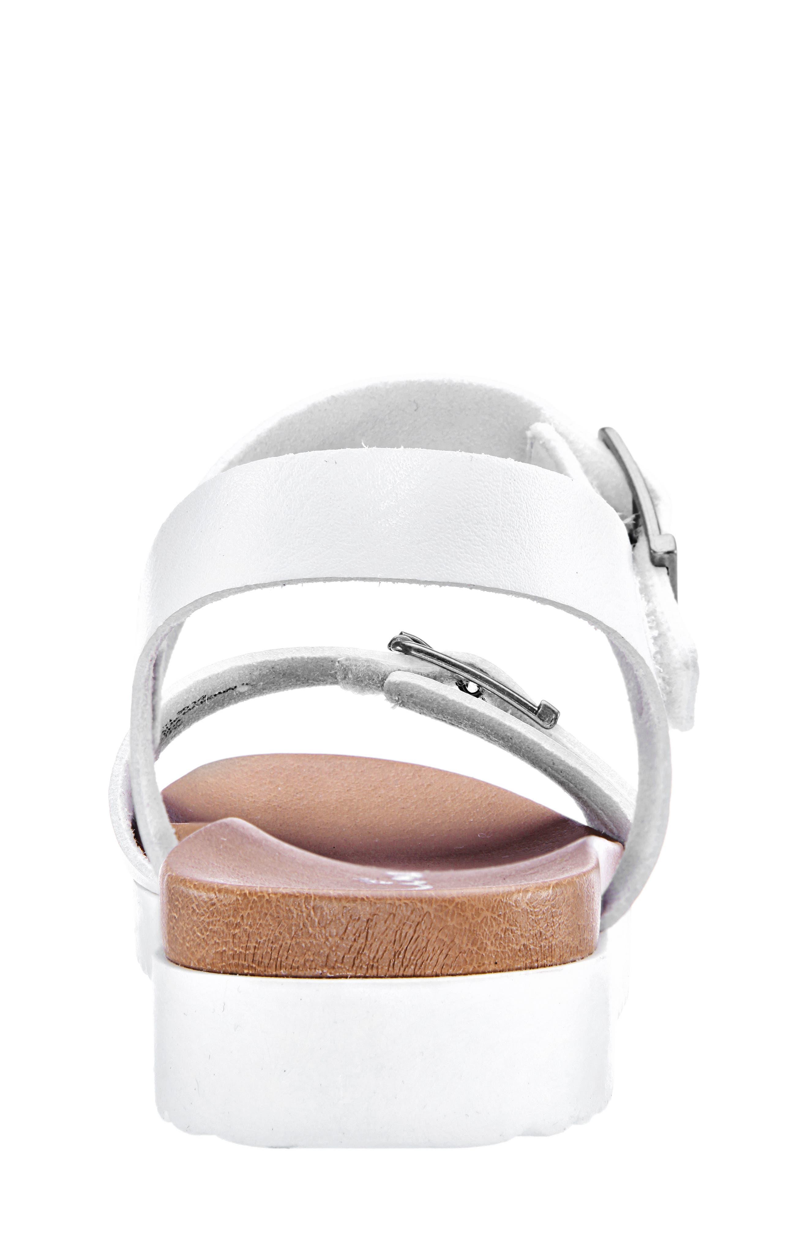 NINA,                             Jacklin3 Quarter Strap Sandal,                             Alternate thumbnail 7, color,                             WHITE TUMBLE