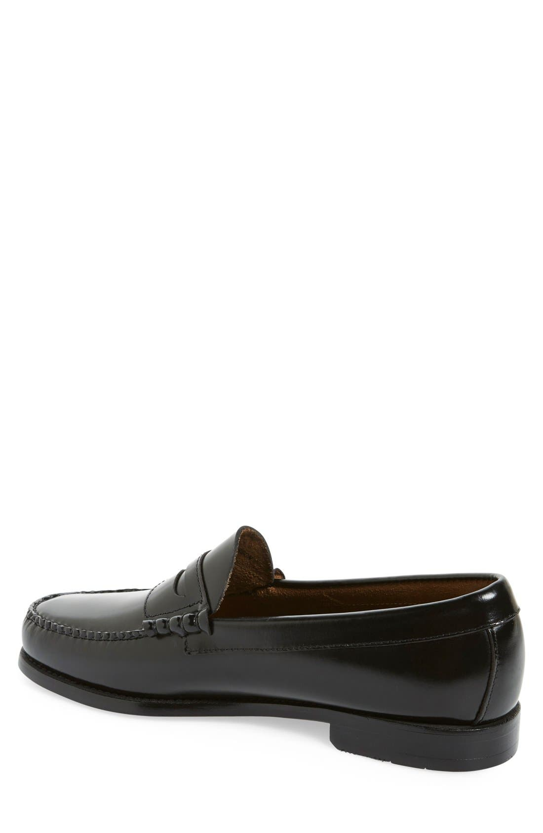 'Larson - Weejuns' Penny Loafer,                             Alternate thumbnail 3, color,                             BLACK LEATHER