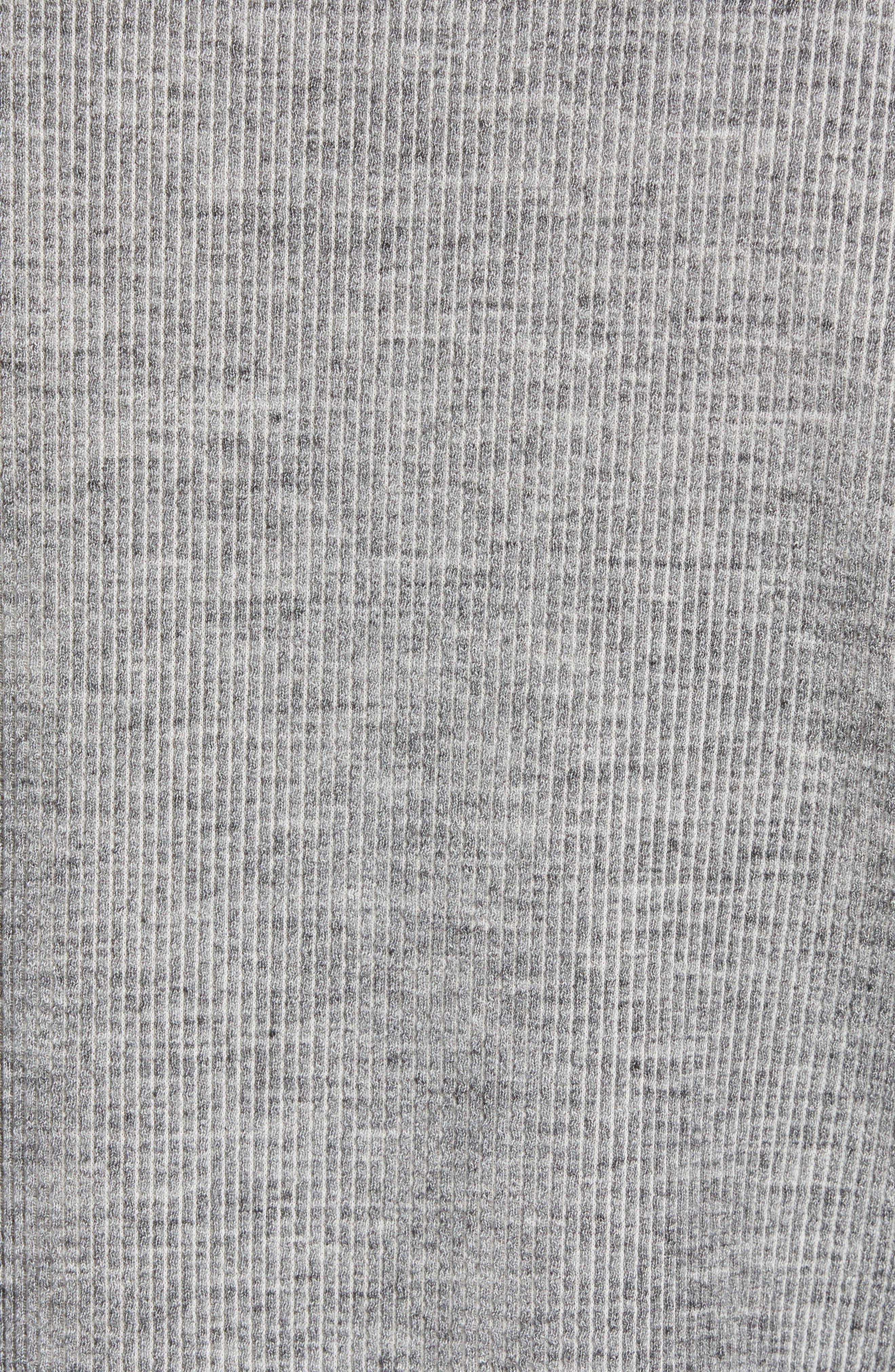 Charlie Rib Knit Henley Shirt,                             Alternate thumbnail 5, color,                             GREY