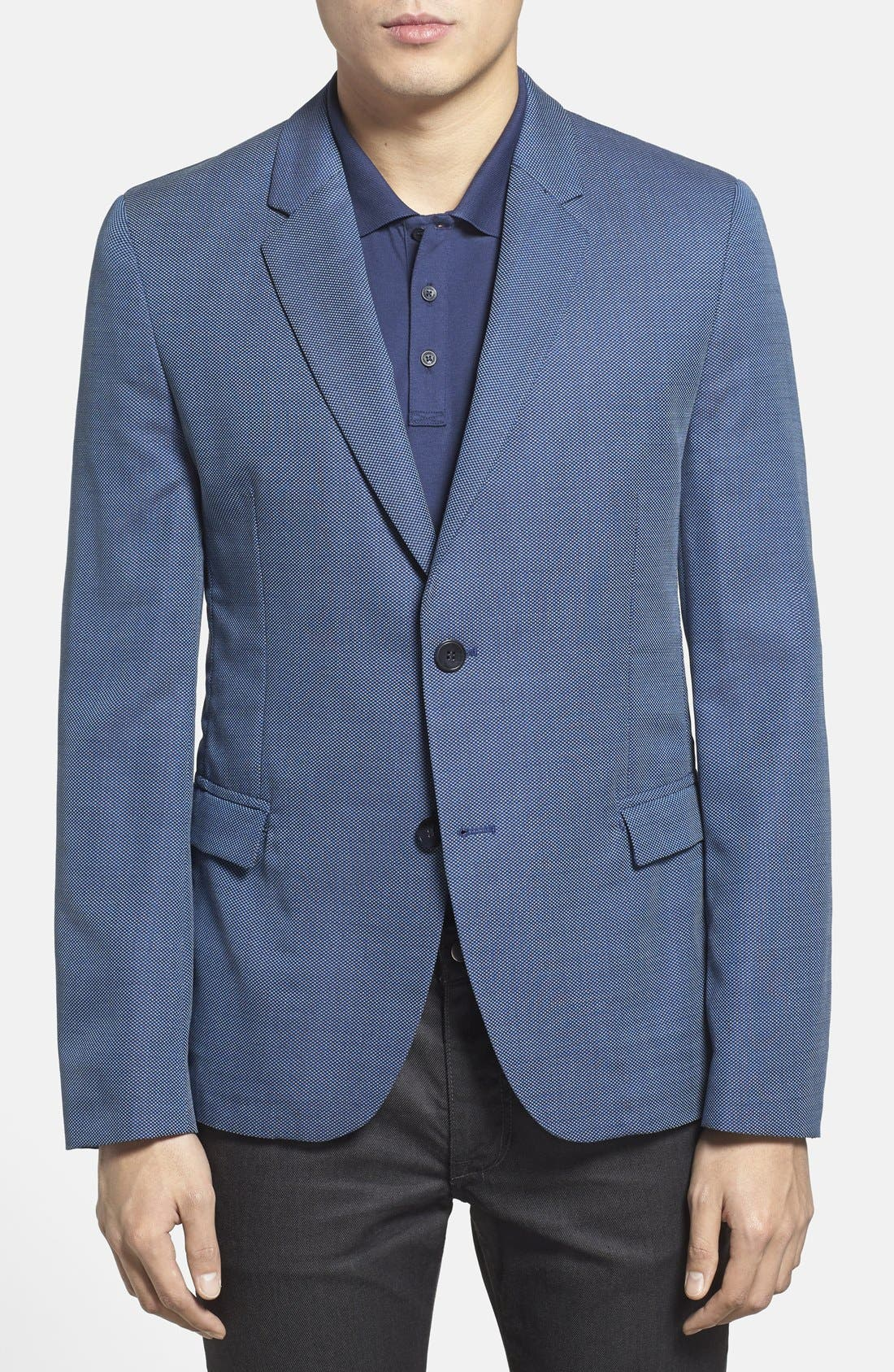 ZZDNUHUGO BOSS,                             HUGO 'Arnandos' Slim Fit Virgin Wool Sport Coat,                             Main thumbnail 1, color,                             420