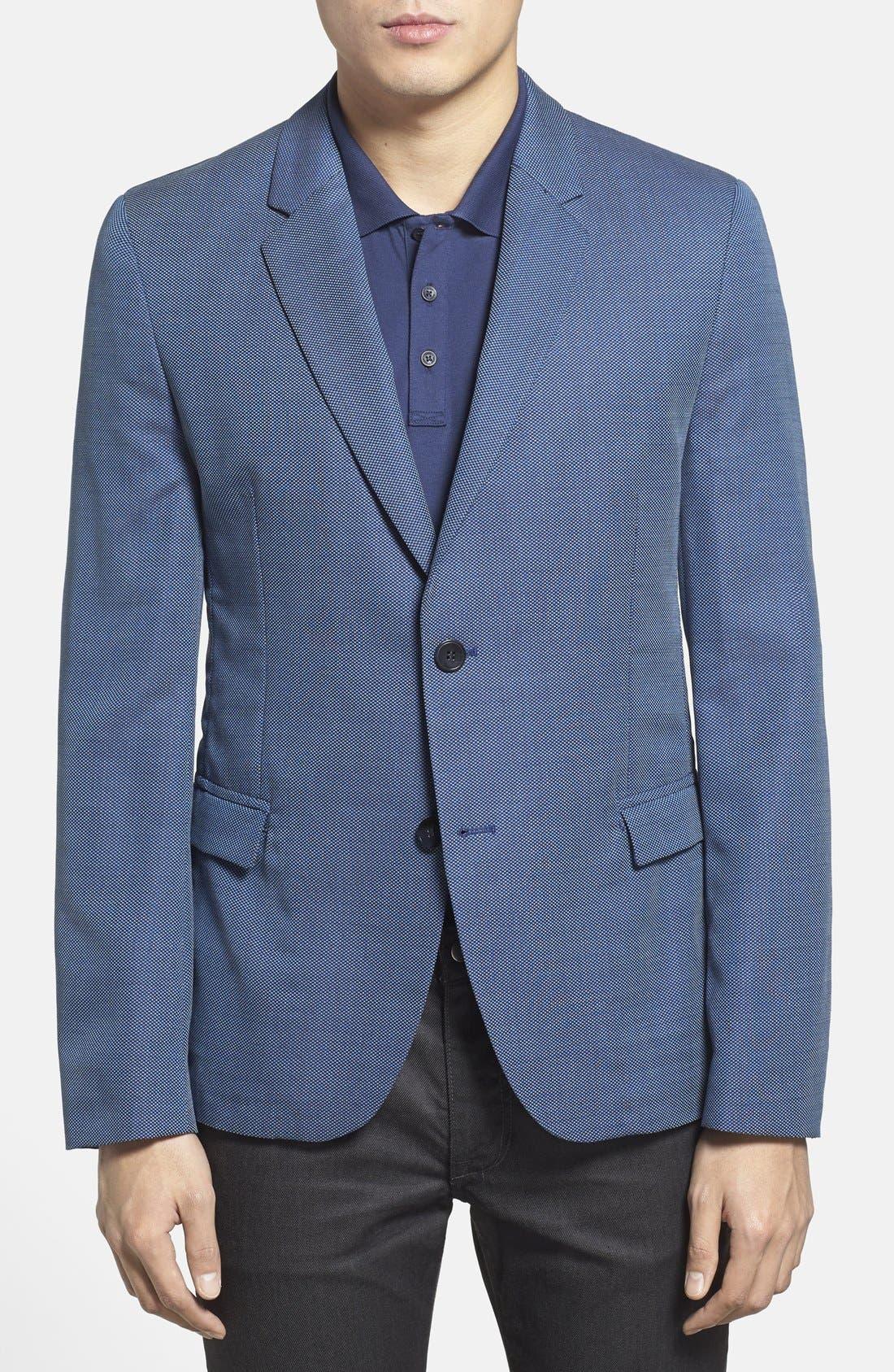 ZZDNUHUGO BOSS HUGO 'Arnandos' Slim Fit Virgin Wool Sport Coat, Main, color, 420