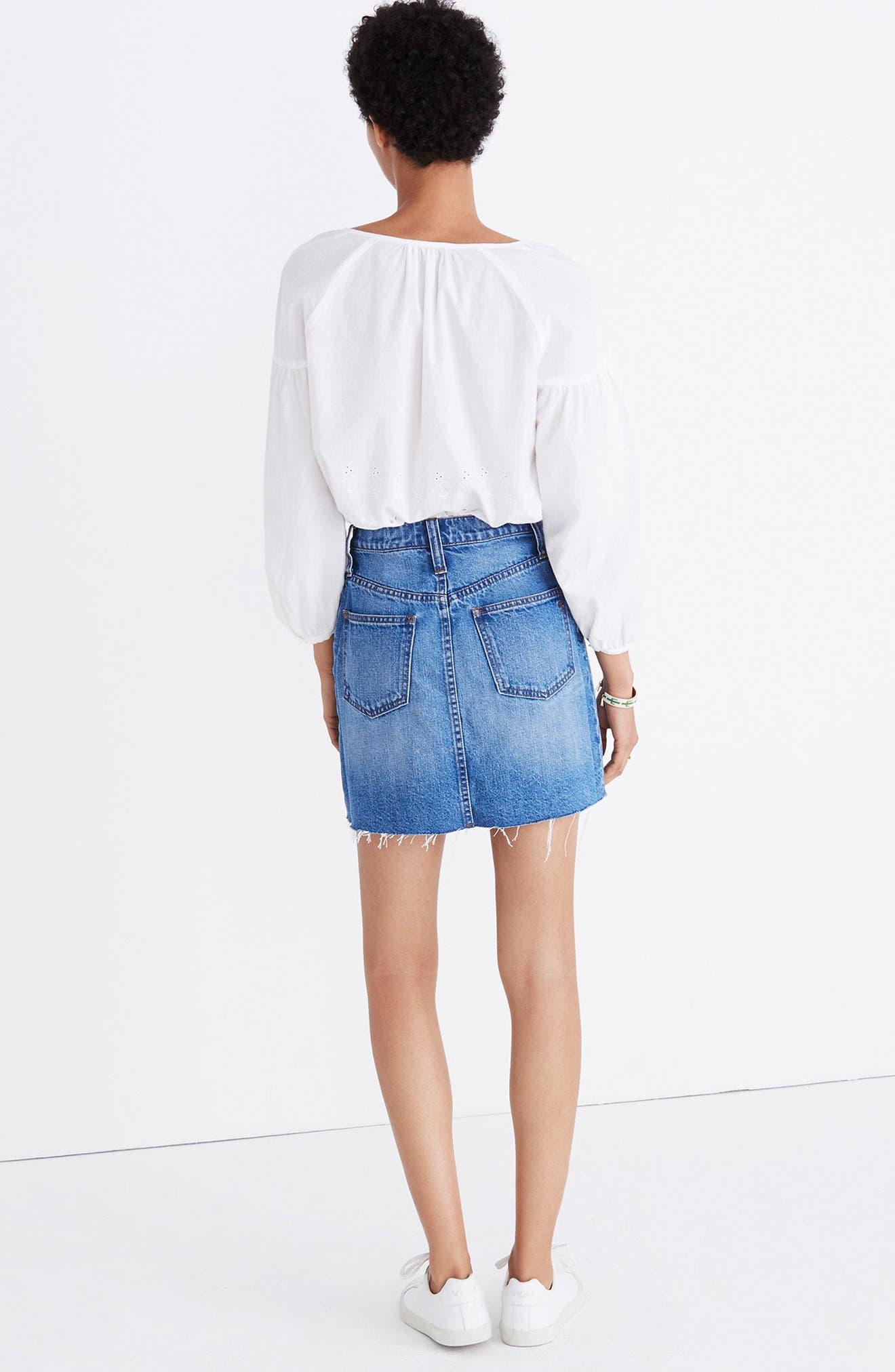 Frisco Denim Miniskirt,                             Alternate thumbnail 4, color,                             400