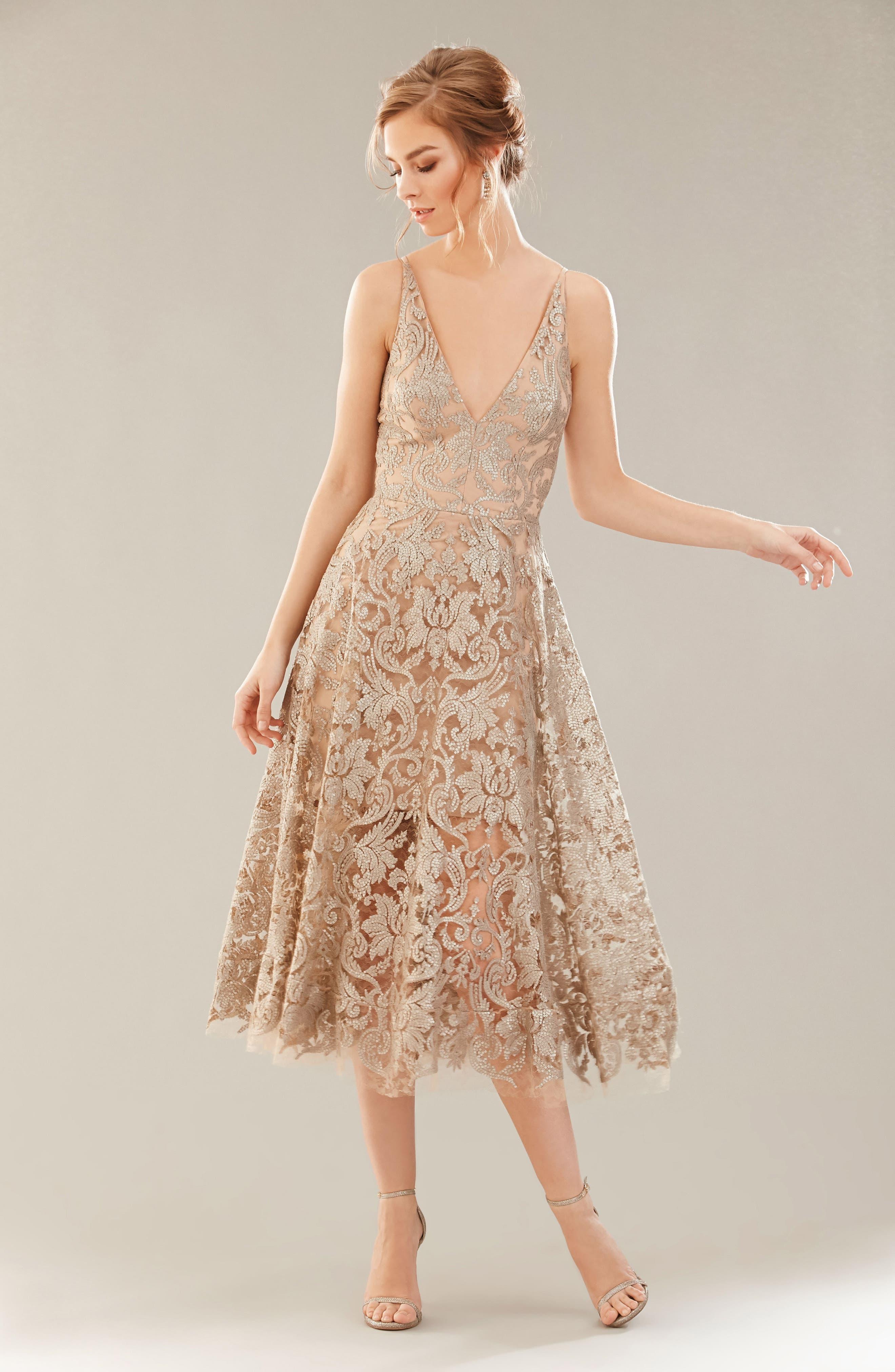 Blair Embellished Fit & Flare Dress,                             Alternate thumbnail 30, color,
