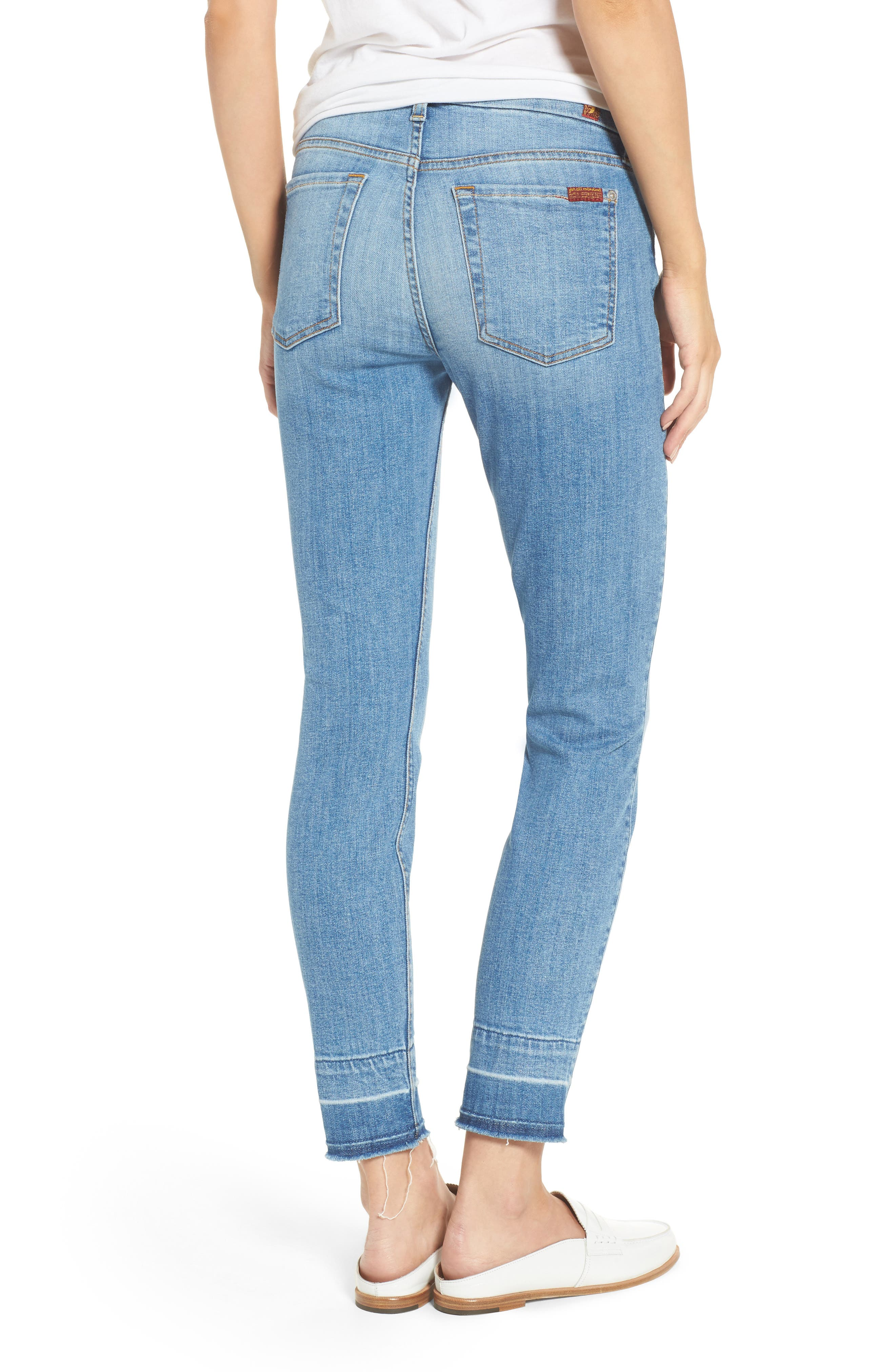 7 FOR ALL MANKIND<SUP>®</SUP>,                             The Ankle Release Hem Skinny Jeans,                             Alternate thumbnail 2, color,                             400