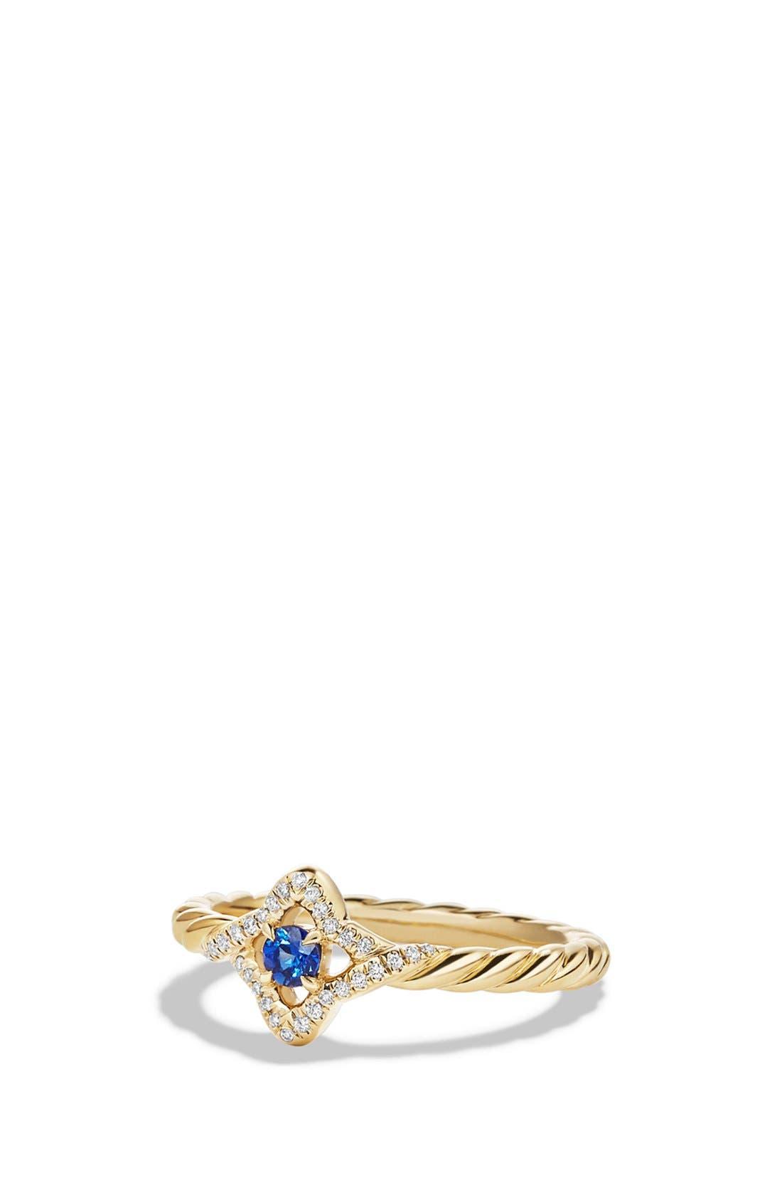 'Venetial Quatrefoil' Ring in Gold,                         Main,                         color, BLUE SAPPHIRE