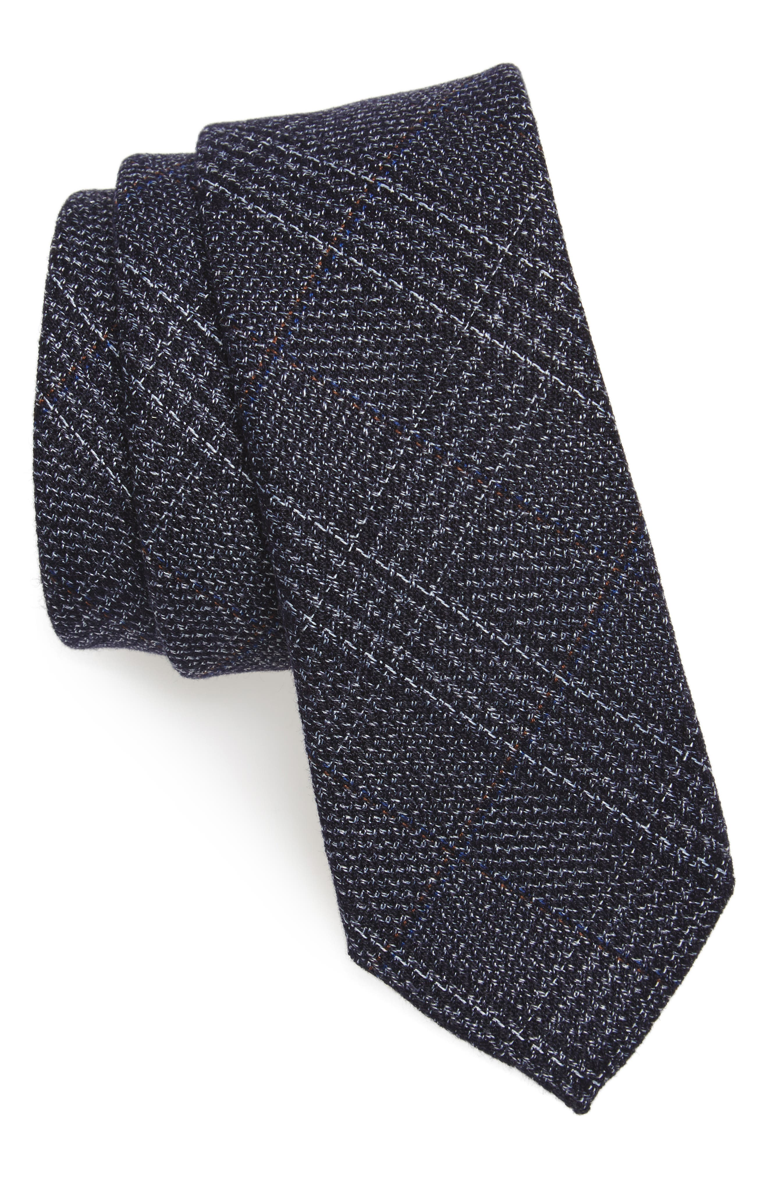 Eastview Check Skinny Tie,                             Main thumbnail 2, color,