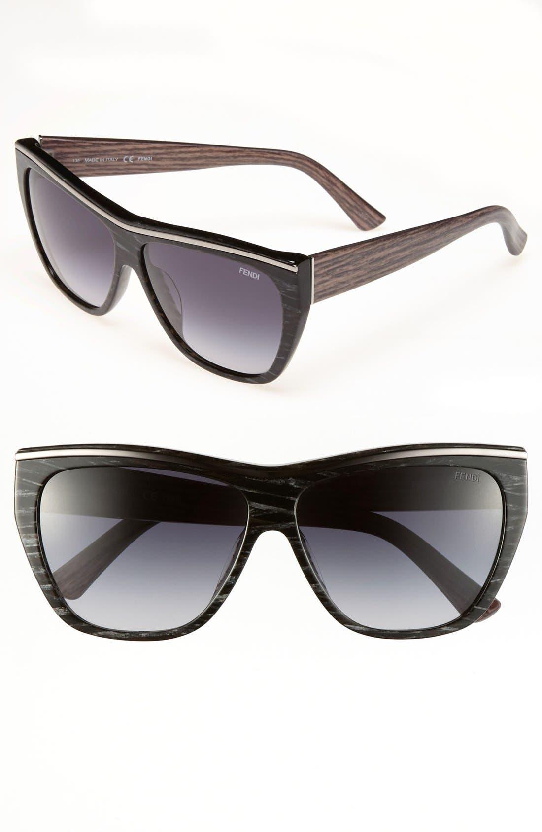 52mm Retro Sunglasses,                             Main thumbnail 1, color,                             002