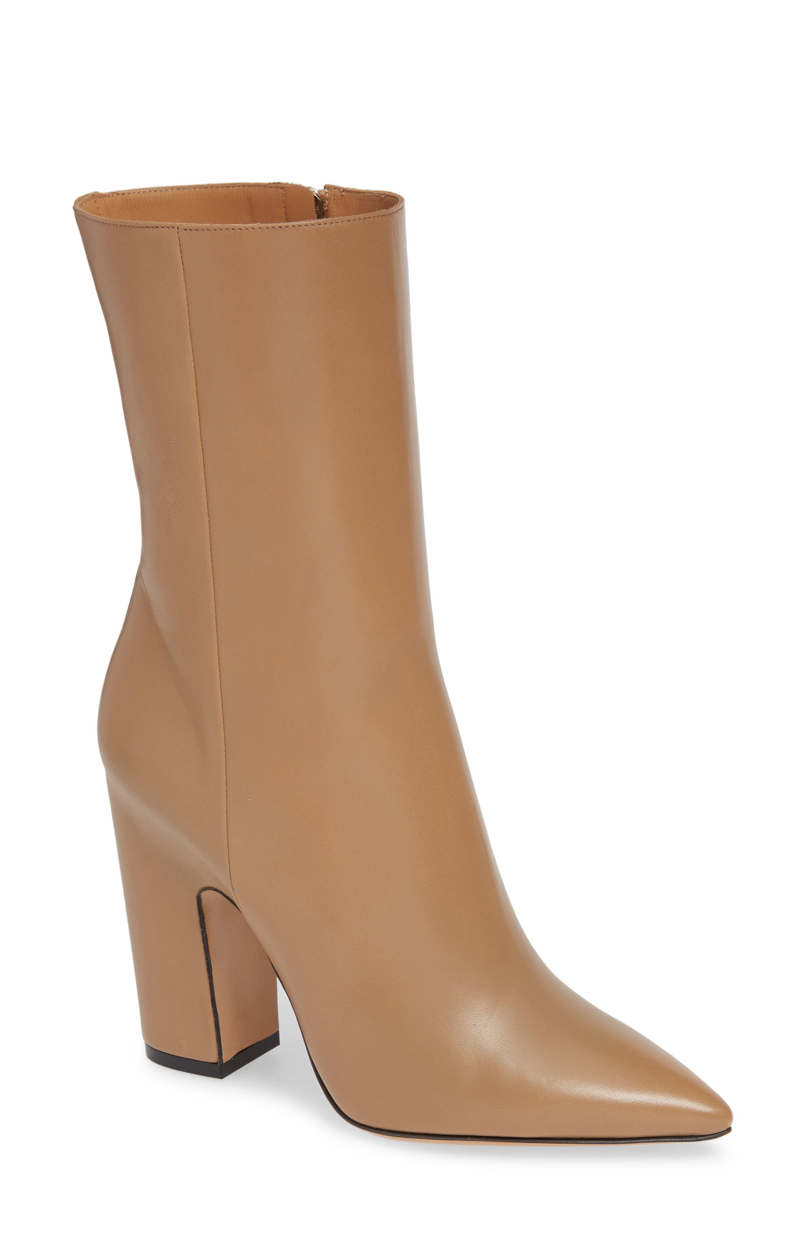 Lou Block Heel Boot,                         Main,                         color, BROWN
