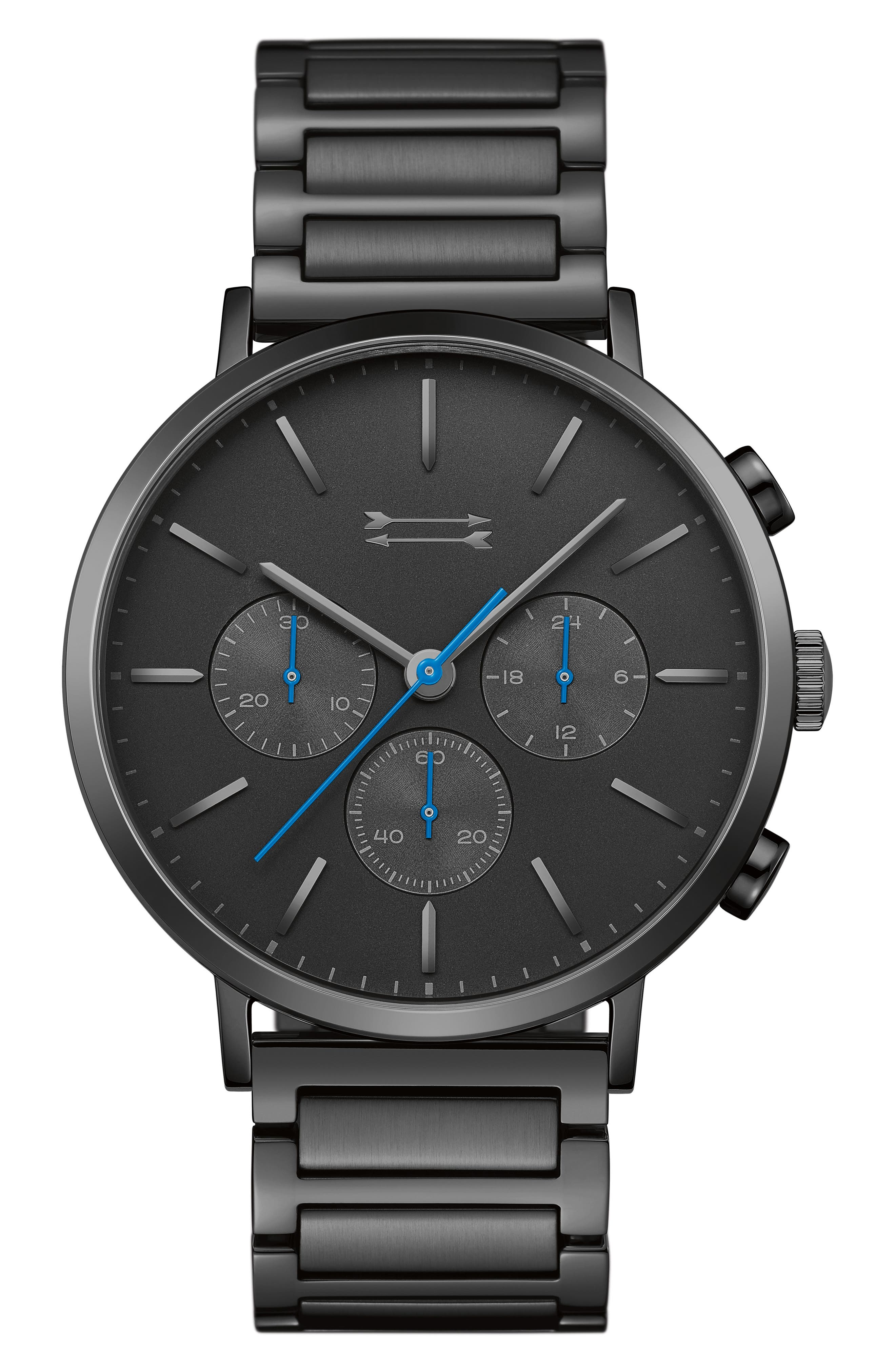 Griffith Bracelet Watch, 43mm,                             Main thumbnail 1, color,                             BLACK