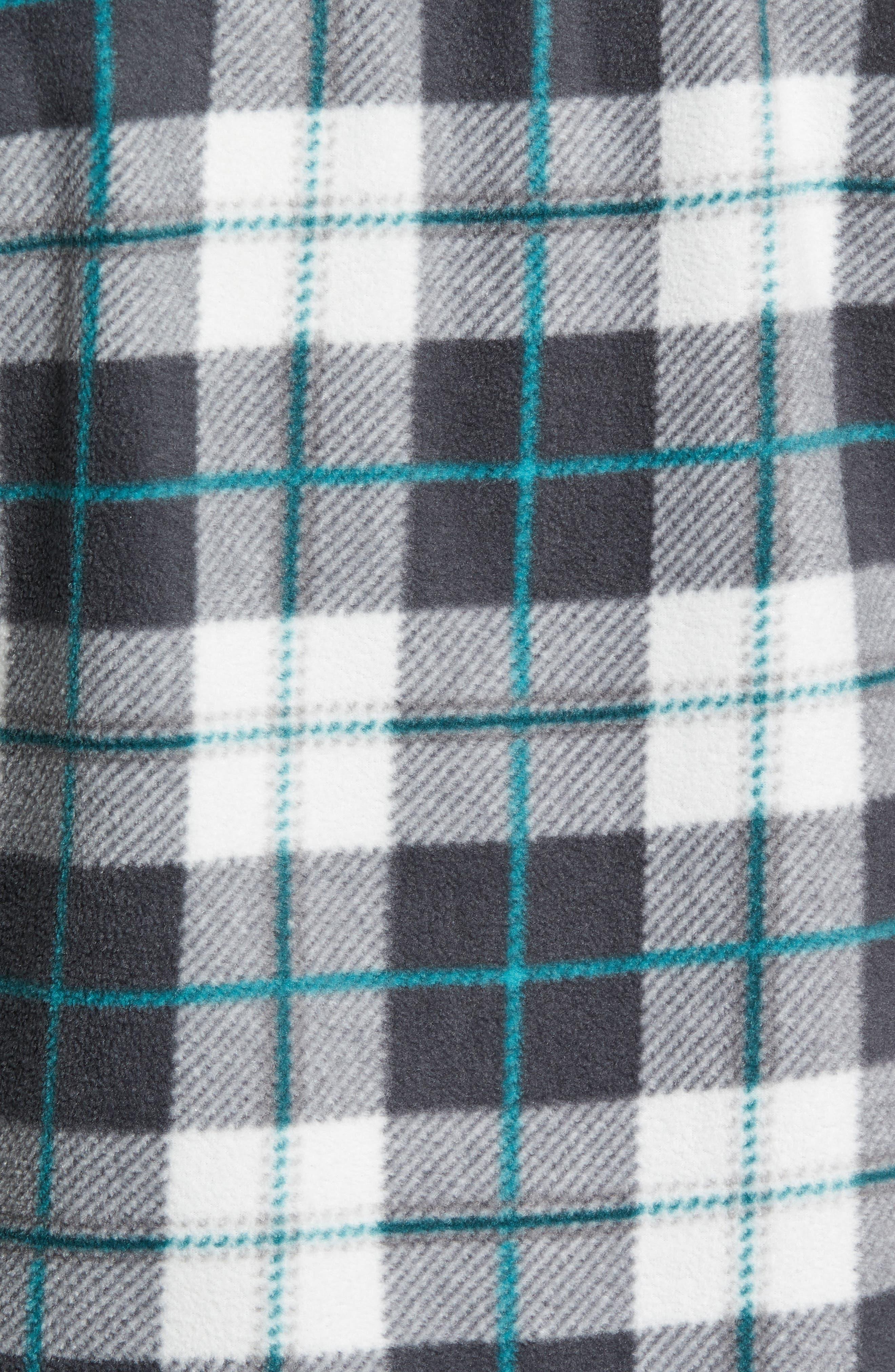 Glacier Plaid Fleece Flannel Shirt,                             Alternate thumbnail 24, color,